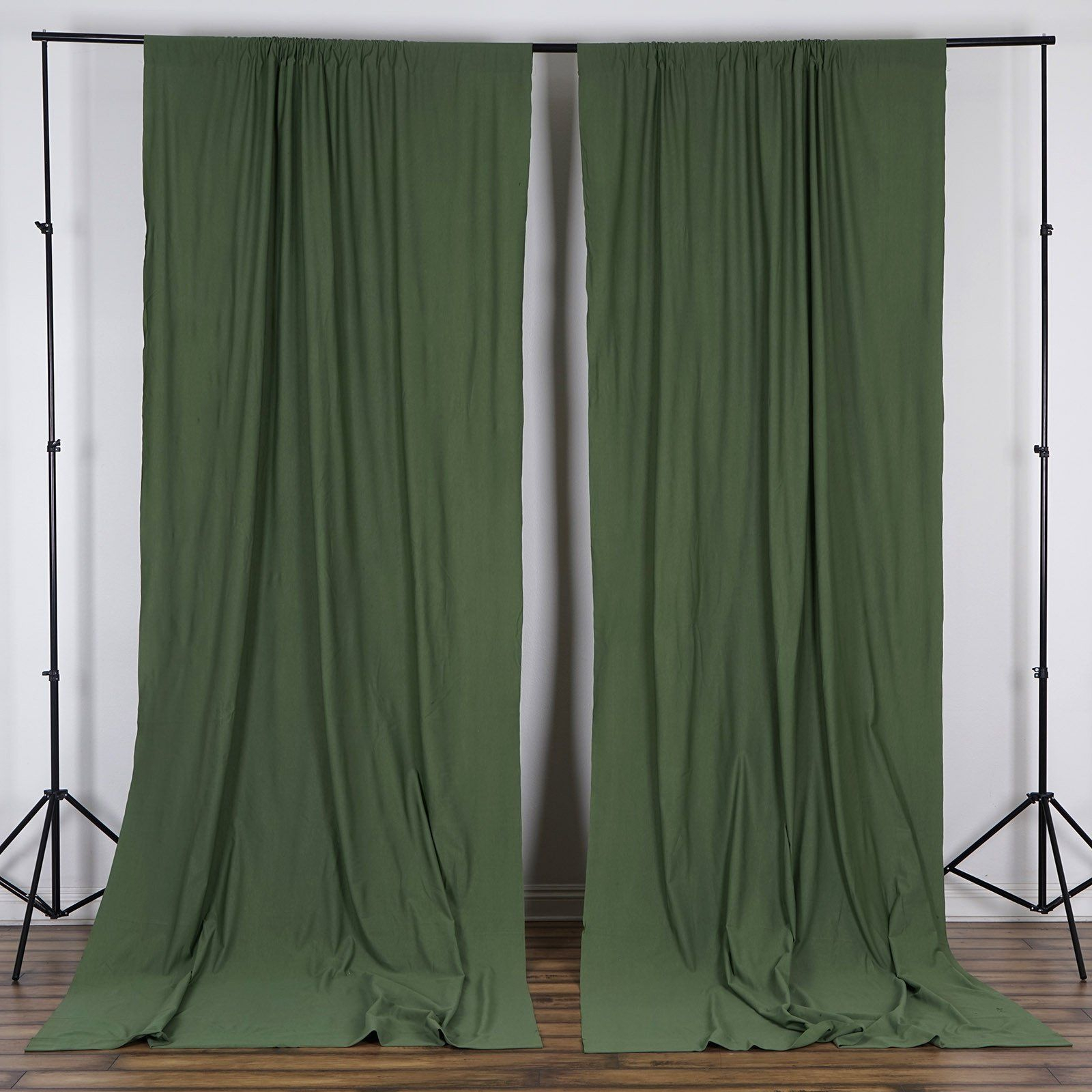 2 Pack | 5ftx10ft Willow Green Fire Retardant Polyester With Willow Rod Pocket Window Curtain Panels (View 15 of 30)