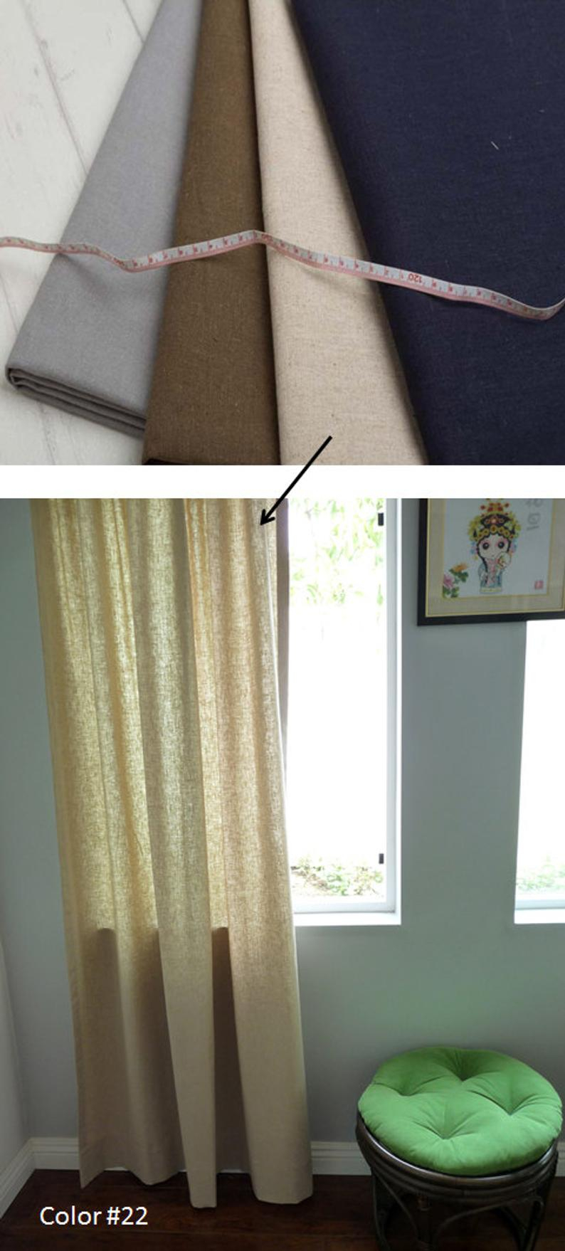 24 Colors – Custom Cotton Linen Curtain Panel (View 2 of 30)