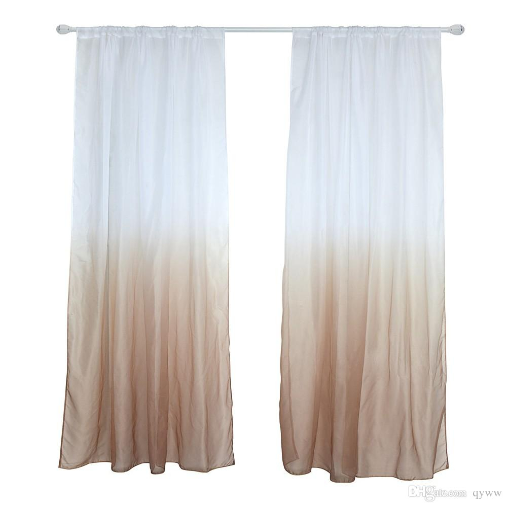 39 * 79Inches Polyester Semi Blackout Gradient Window Curtain Panel Living Room Bedroom Hotel Divider Voile Curtain With Rod Pocket Within Classic Hotel Quality Water Resistant Fabric Curtains Set With Tiebacks (View 2 of 20)