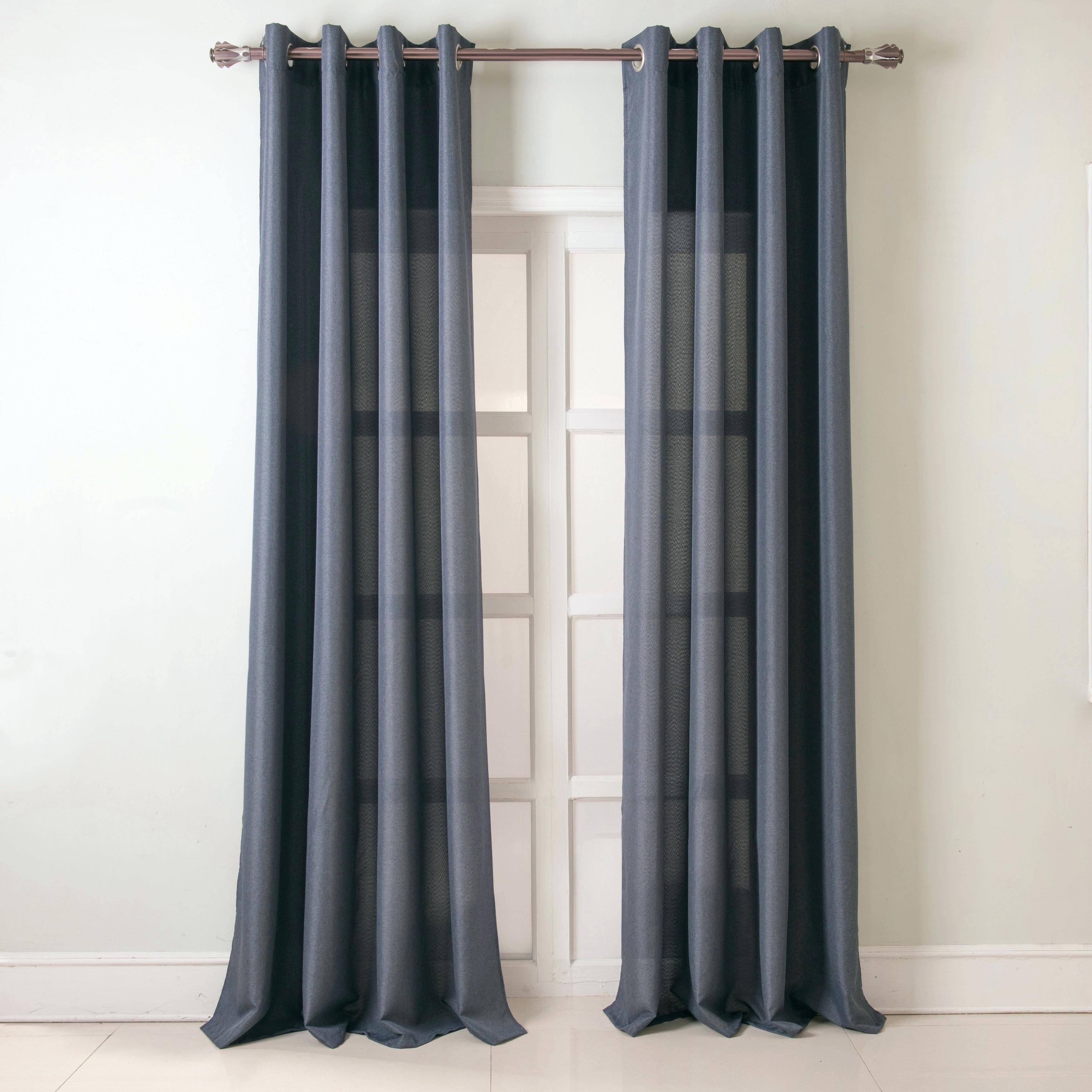 42 X 45 Curtains – Friendsofaravind In Total Blackout Metallic Print Grommet Top Curtain Panels (View 21 of 36)