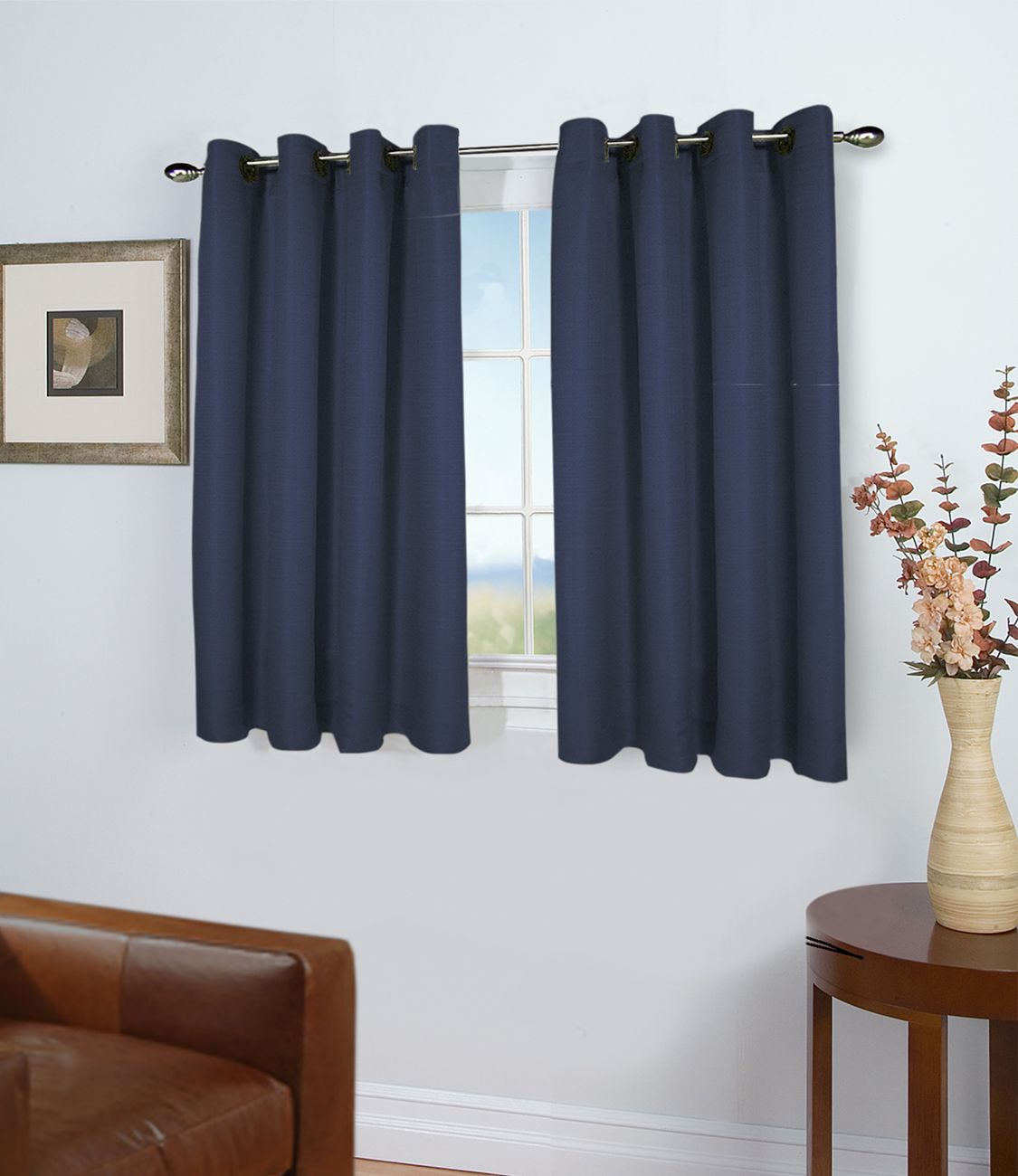 45 Inch Long Curtains – Thecurtainshop For Ultimate Blackout Short Length Grommet Curtain Panels (View 10 of 30)