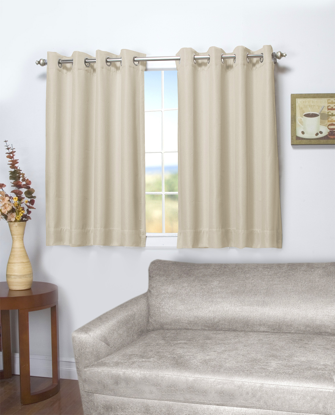 45 Inch Long Curtains – Thecurtainshop In Ultimate Blackout Short Length Grommet Curtain Panels (View 23 of 30)