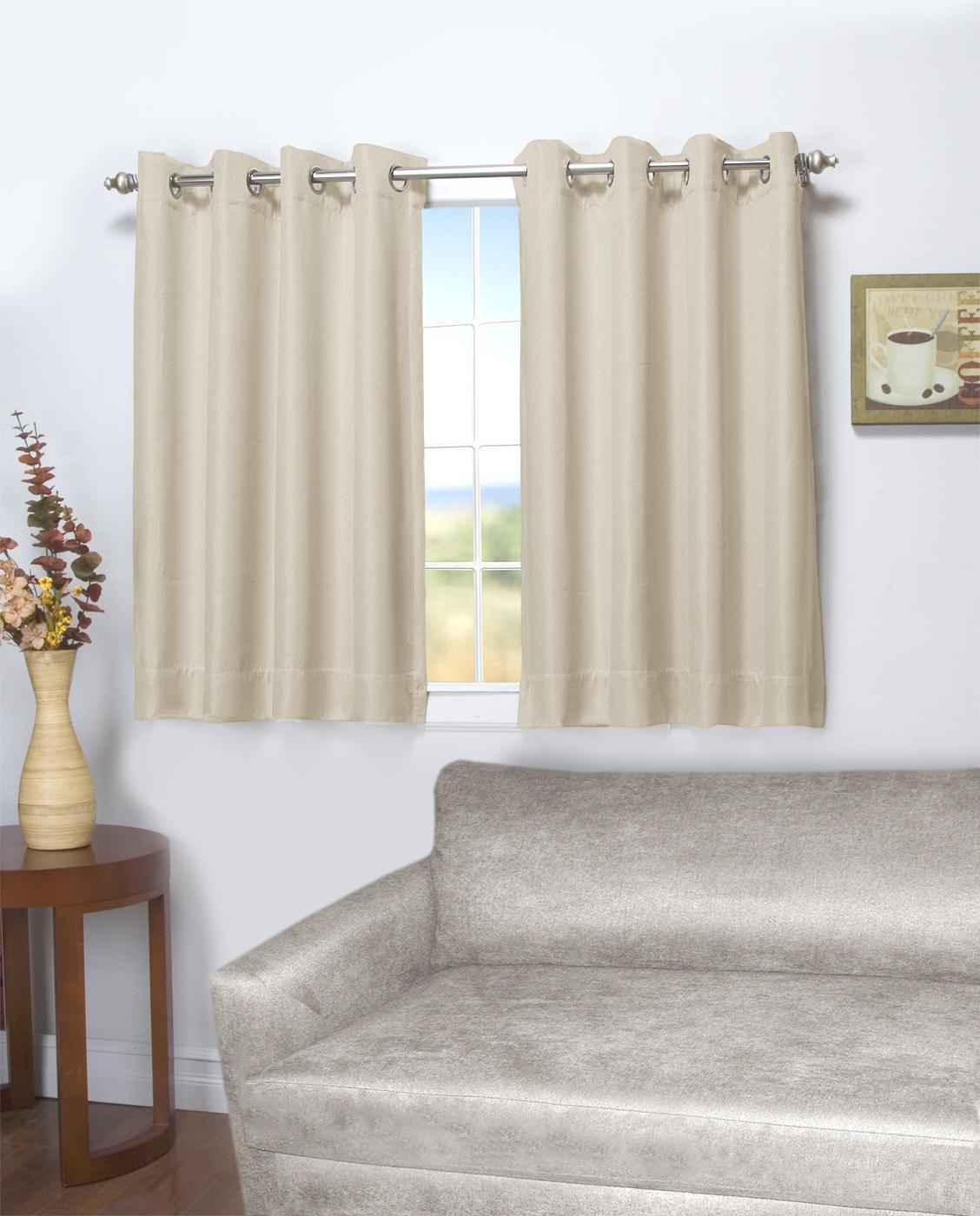 45-Inch Long Curtains - Thecurtainshop regarding Ultimate Blackout Short Length Grommet Panels (Image 3 of 30)