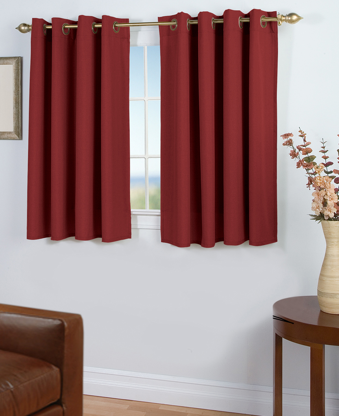 45-Inch Long Curtains - Thecurtainshop throughout Tacoma Double-Blackout Grommet Curtain Panels (Image 2 of 30)