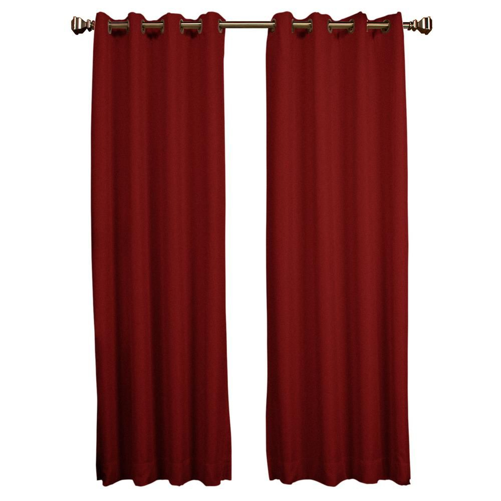 $50 Tacoma Double Blackout Curtain 50 In. W X 63 In. Red intended for Tacoma Double-Blackout Grommet Curtain Panels (Image 1 of 30)