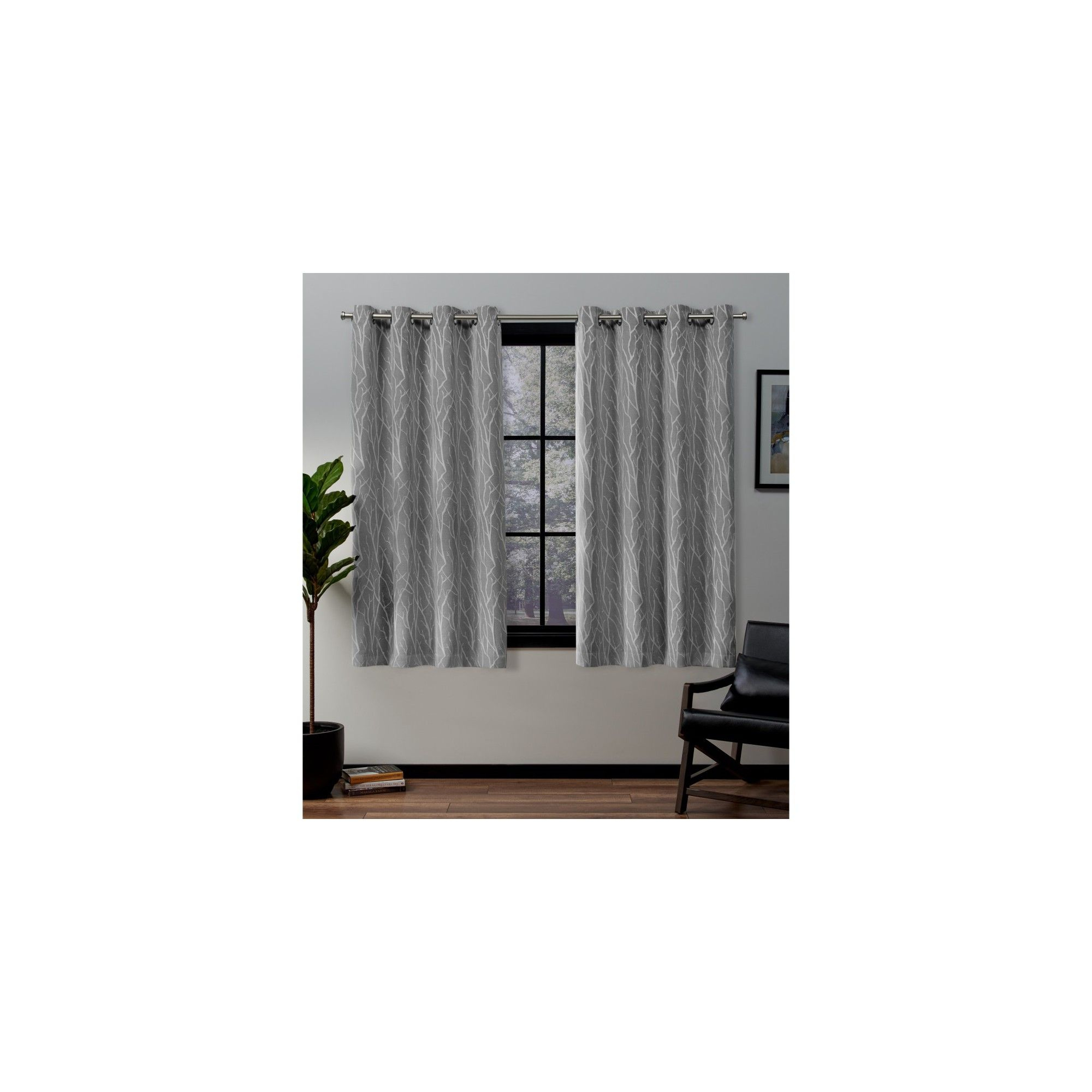 """52""""x63"""" Forest Hill Woven Blackout Grommet Top Window In Forest Hill Woven Blackout Grommet Top Curtain Panel Pairs (View 12 of 20)"""