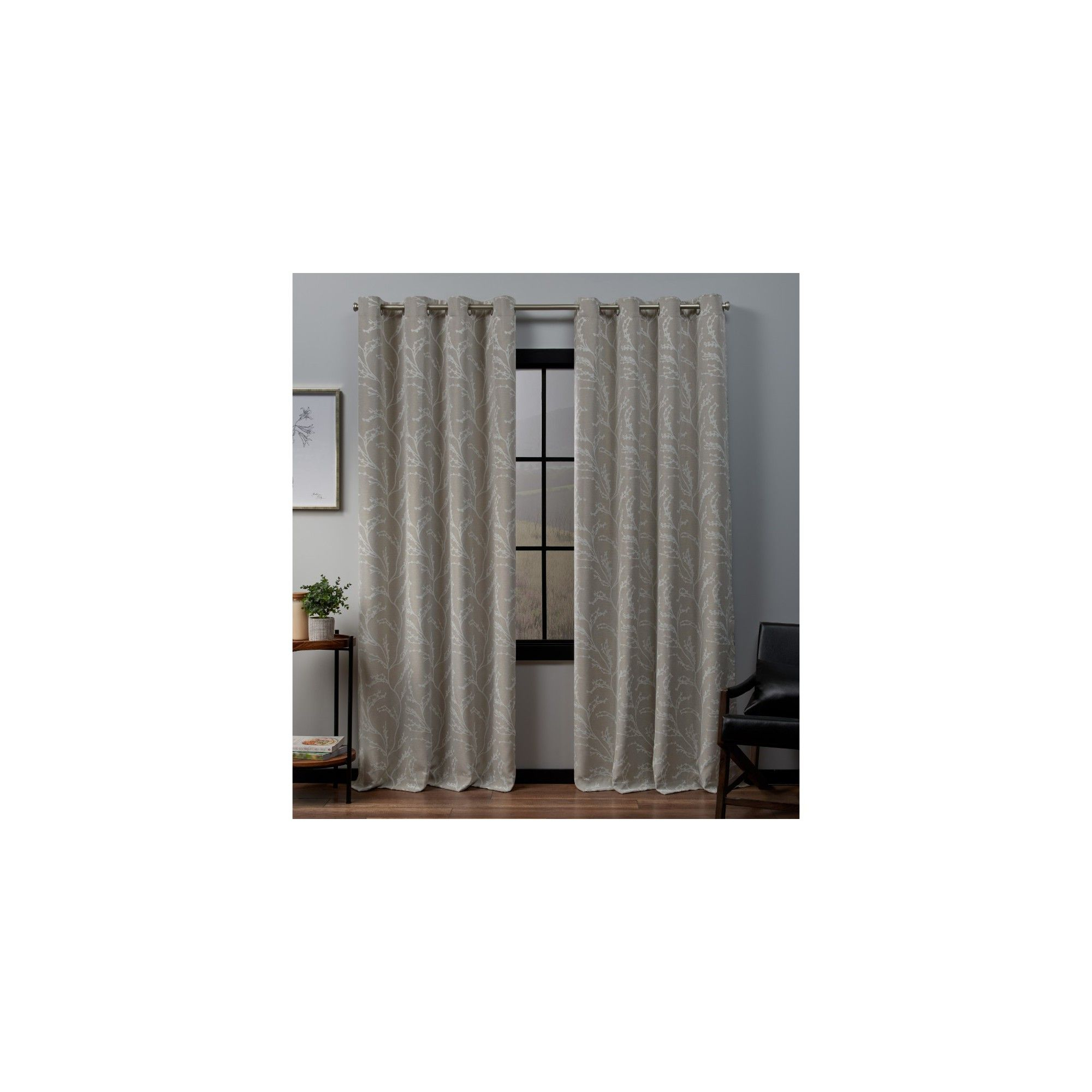 """52""""x63"""" Kilberry Woven Blackout Grommet Top Window Curtain Pertaining To Penny Sheer Grommet Top Curtain Panel Pairs (View 5 of 20)"""