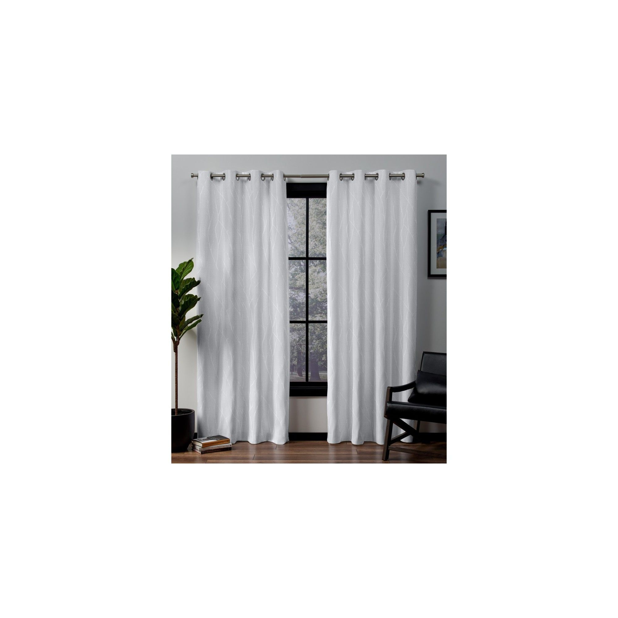 """52""""x84"""" Forest Hill Woven Blackout Grommet Top Window Pertaining To Forest Hill Woven Blackout Grommet Top Curtain Panel Pairs (View 10 of 20)"""