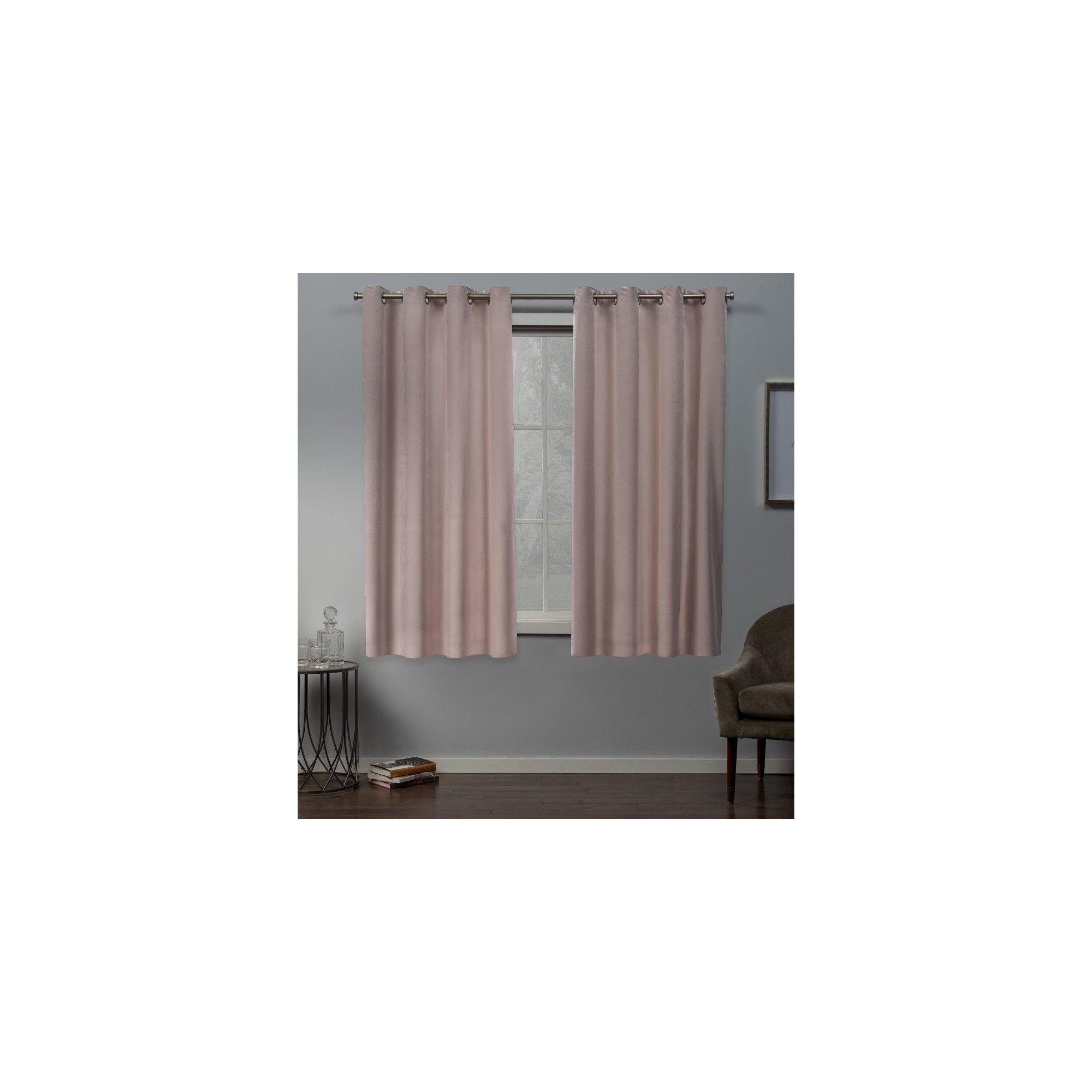 "54""x63"" Velvet Heavyweight Grommet Top Window Curtain Panel With Regard To Velvet Heavyweight Grommet Top Curtain Panel Pairs (View 8 of 30)"