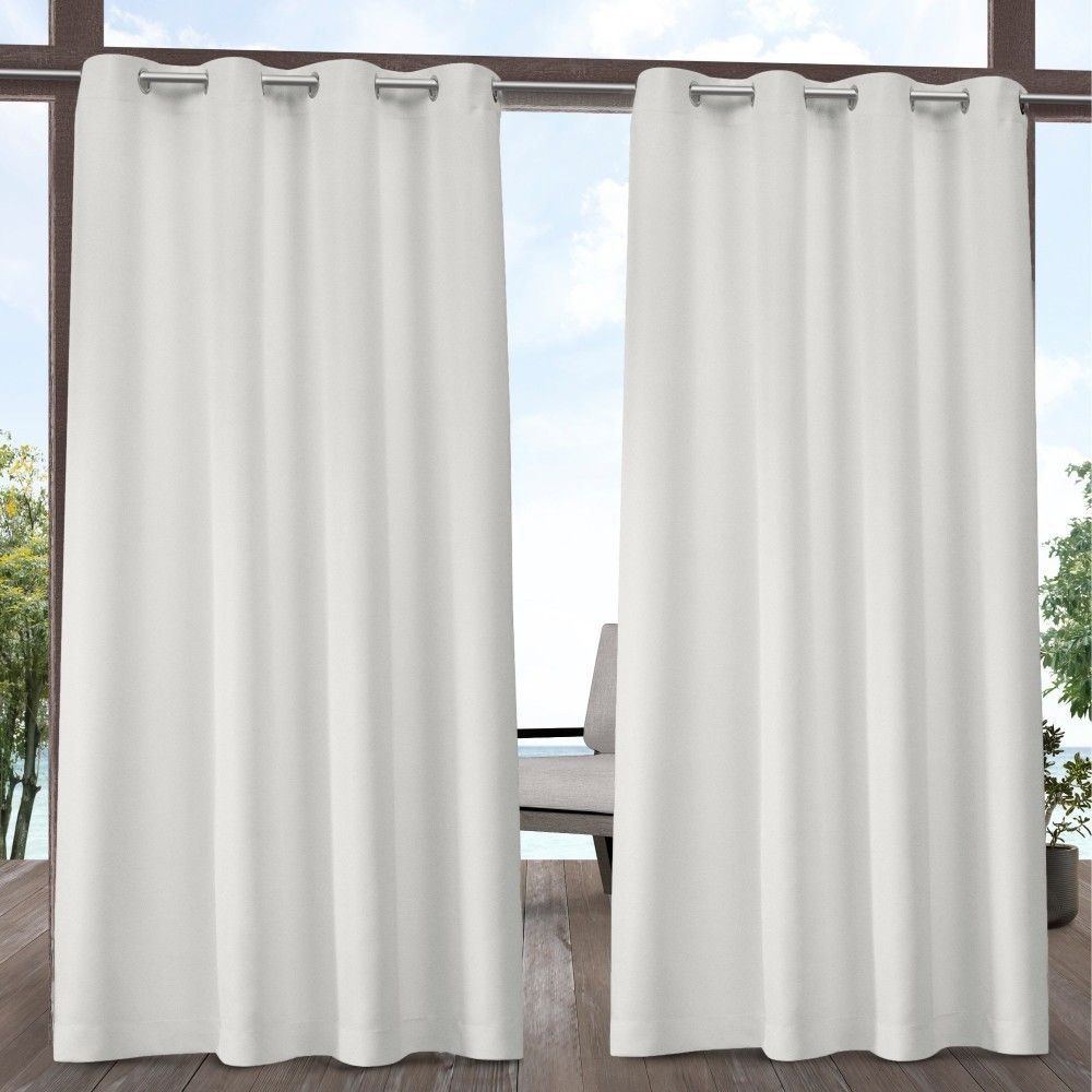 "54""x84"" Indoor/outdoor Solid Cabana Grommet Top Window Intended For Solid Grommet Top Curtain Panel Pairs (View 18 of 30)"