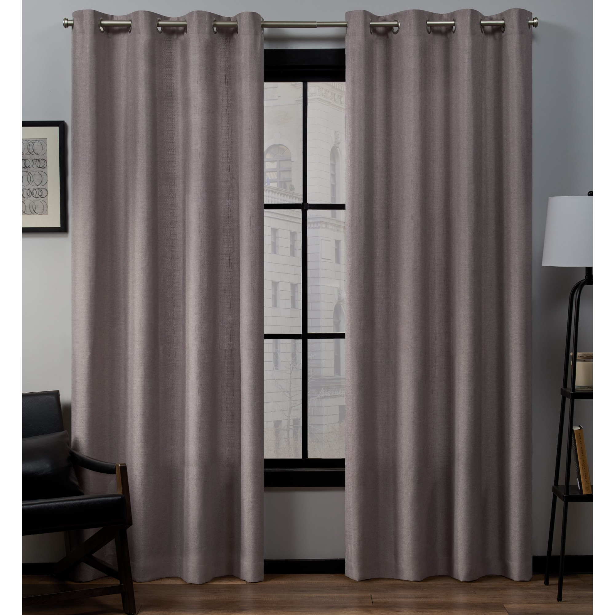 """54""""x84"""" Loha Linen Grommet Top Window Curtain Panel Pair Throughout Thermal Textured Linen Grommet Top Curtain Panel Pairs (View 18 of 30)"""