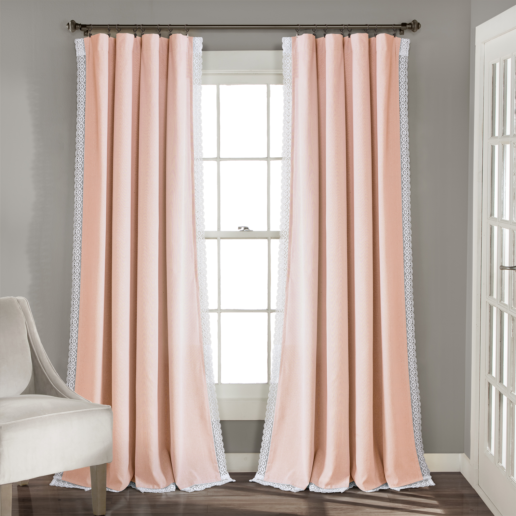 """54""""x95"""" Rosalie Rod Pocket Light Filtering Window Curtain Intended For Archaeo Washed Cotton Twist Tab Single Curtain Panels (View 14 of 20)"""