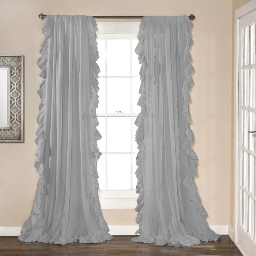 """84"""" X 54"""" Reyna Window Curtain Panels Light Gray – Lush Intended For The Gray Barn Gila Curtain Panel Pairs (View 7 of 30)"""