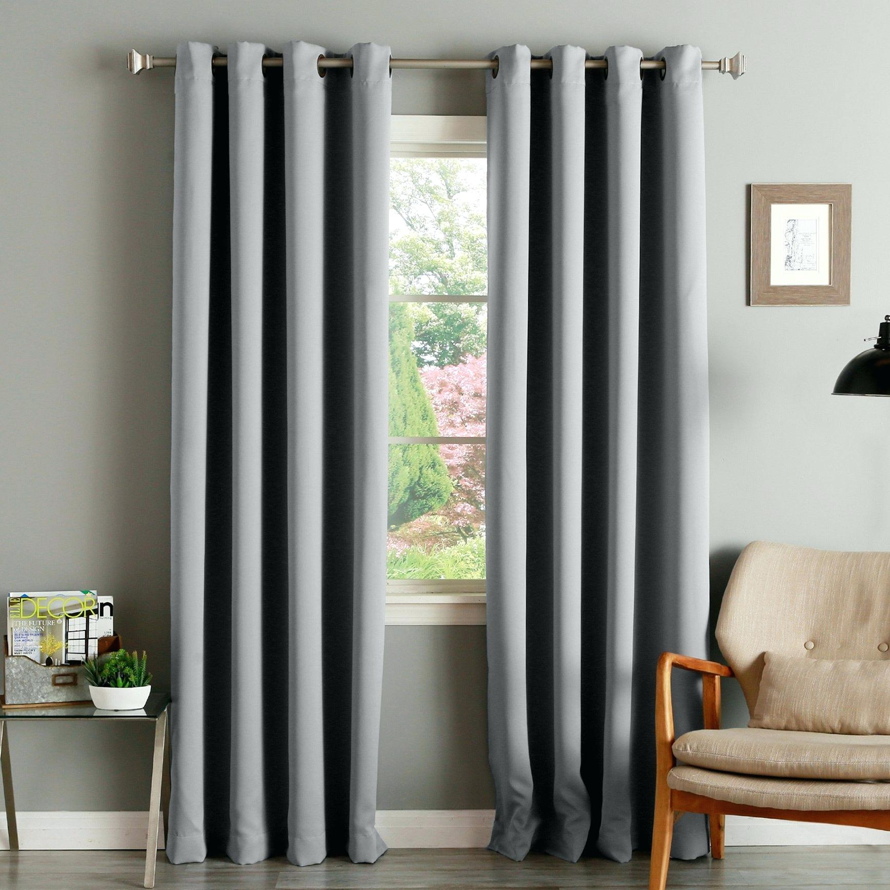 92 Inch Curtains Aurora Home Thermal Insulated Blackout For Insulated Thermal Blackout Curtain Panel Pairs (View 1 of 20)