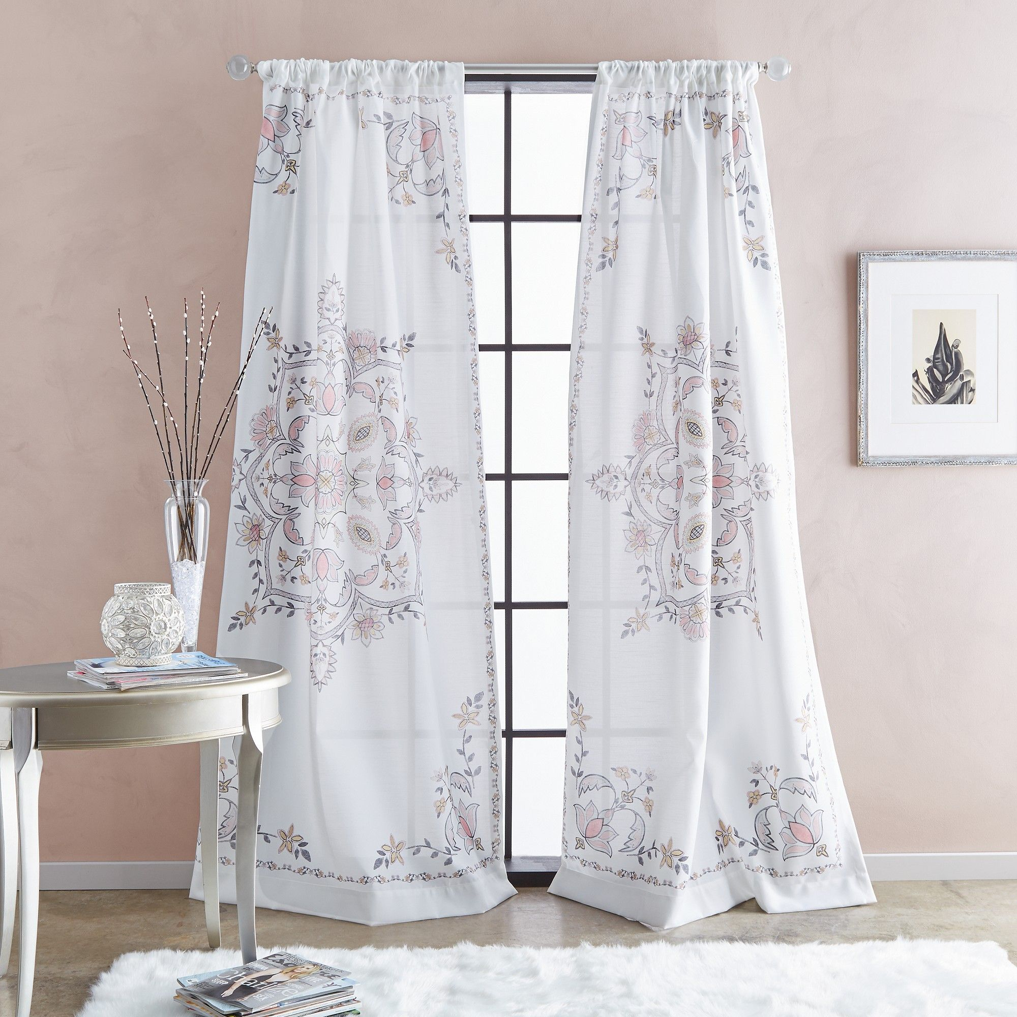 """95"""" Farrah Poletop Curtain Panel Blush In 2019 