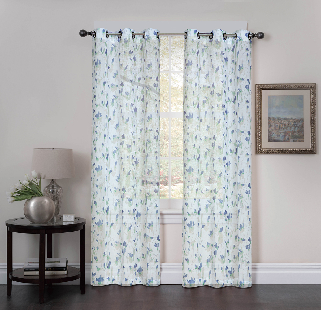 Abigail Printed On Crushed Voile Grommet Curtain Panel Pair, 2 Pcs (View 19 of 20)