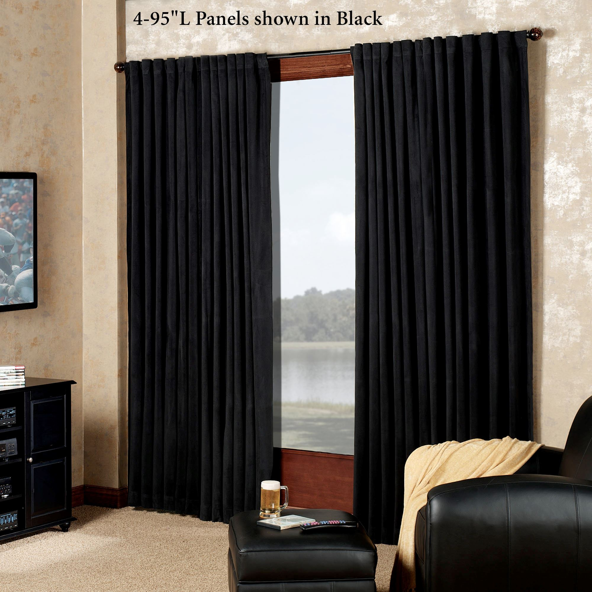 Absolute Zero Eclipse Home Theater Blackout Curtain Panels Pertaining To Solid Cotton True Blackout Curtain Panels (View 21 of 30)