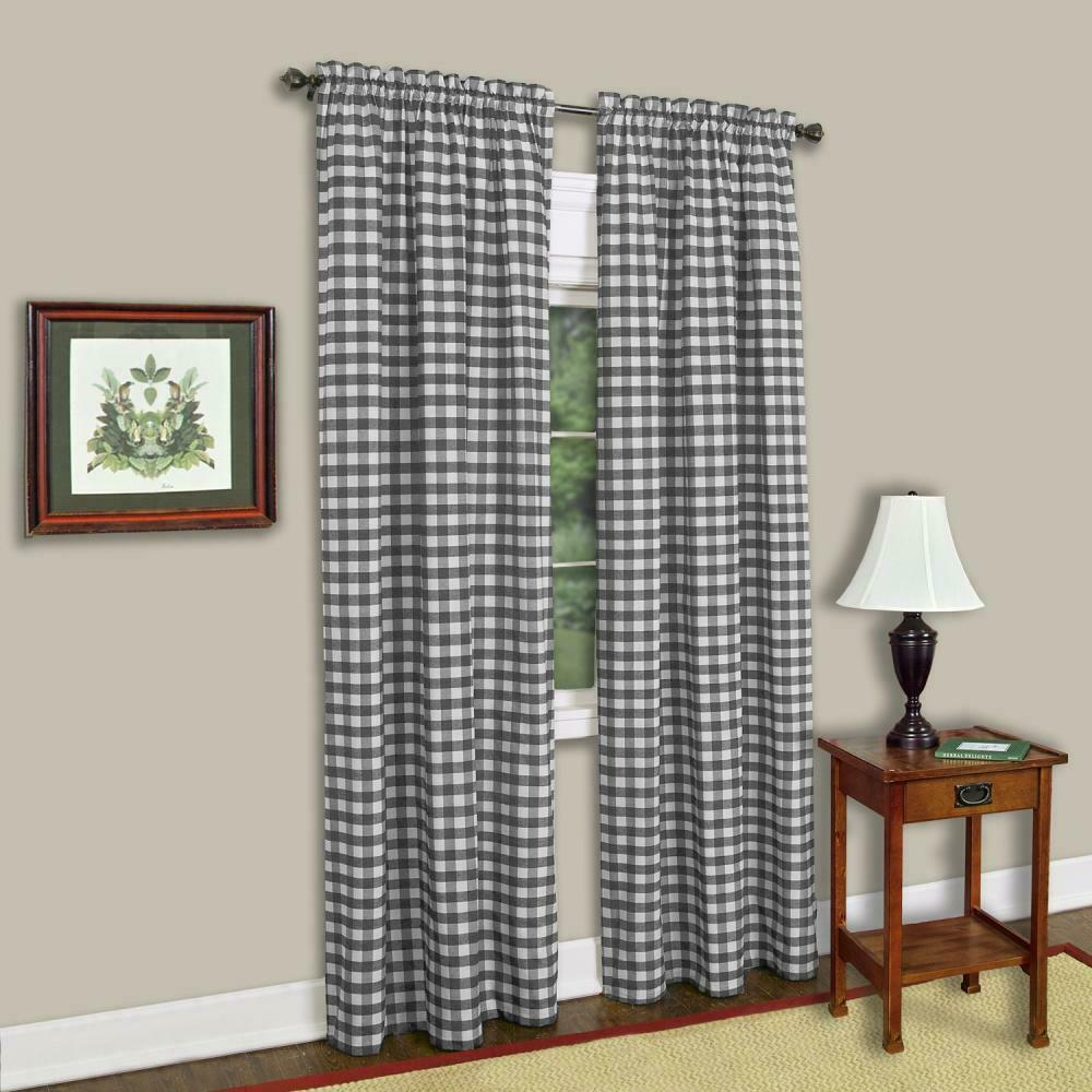 Achim Home Furnishings Buffalo Check Window Curtain Panel (single Curtain), With Keyes Blackout Single Curtain Panels (View 18 of 20)