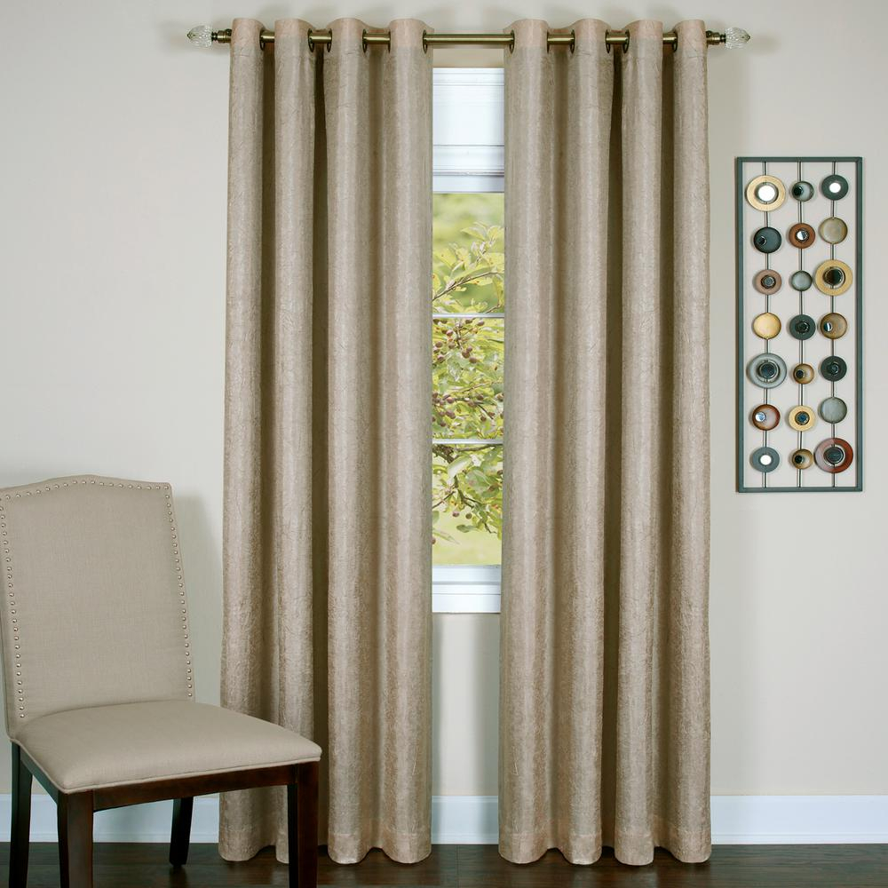 Achim Taylor Tan Polyester Lined Grommet Panel – 50 In. W X 84 In (View 3 of 20)