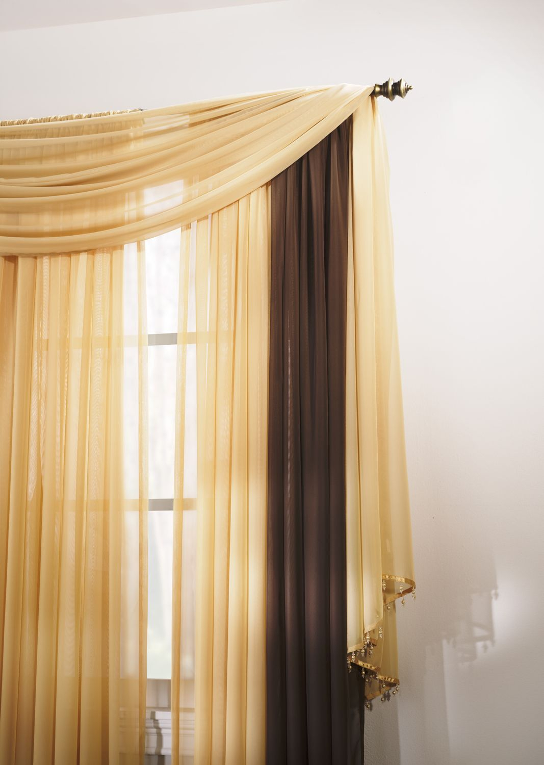 Add A Pop Of Color To Your Windowsmixing And Matching With Regard To Kaylee Solid Crushed Sheer Window Curtain Pairs (View 14 of 20)