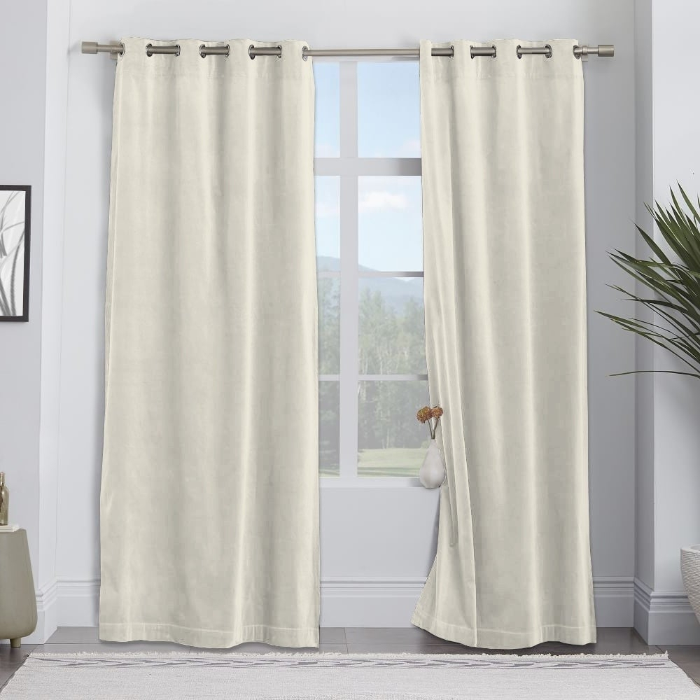 Adrien Lewis – Hibernate Velvet Grommet Panels (set Of 2) Regarding Velvet Dream Silver Curtain Panel Pairs (View 7 of 31)