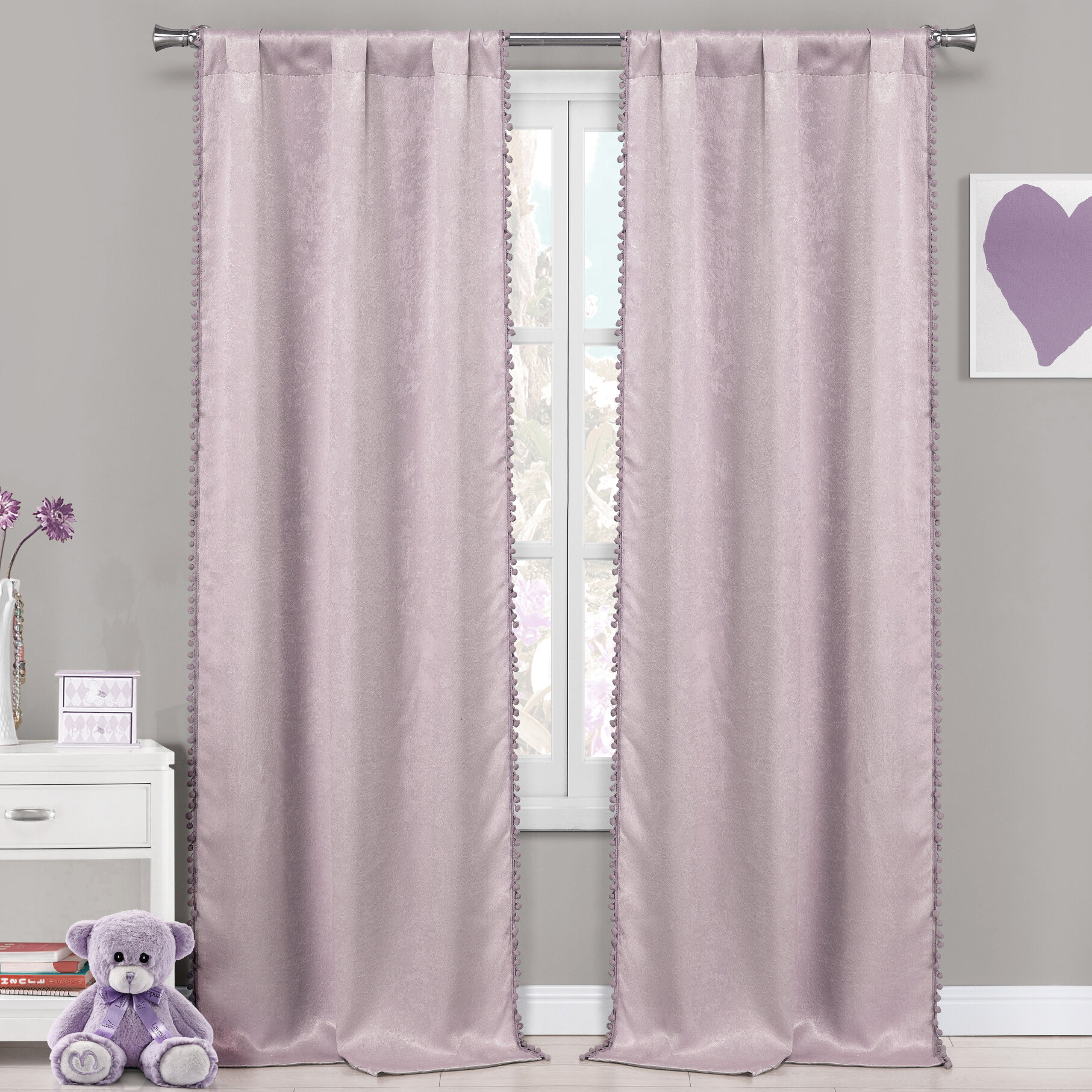 Albrecht Solid Blackout Thermal Rod Pocket Panel Pair Within Thermal Rod Pocket Blackout Curtain Panel Pairs (View 4 of 30)