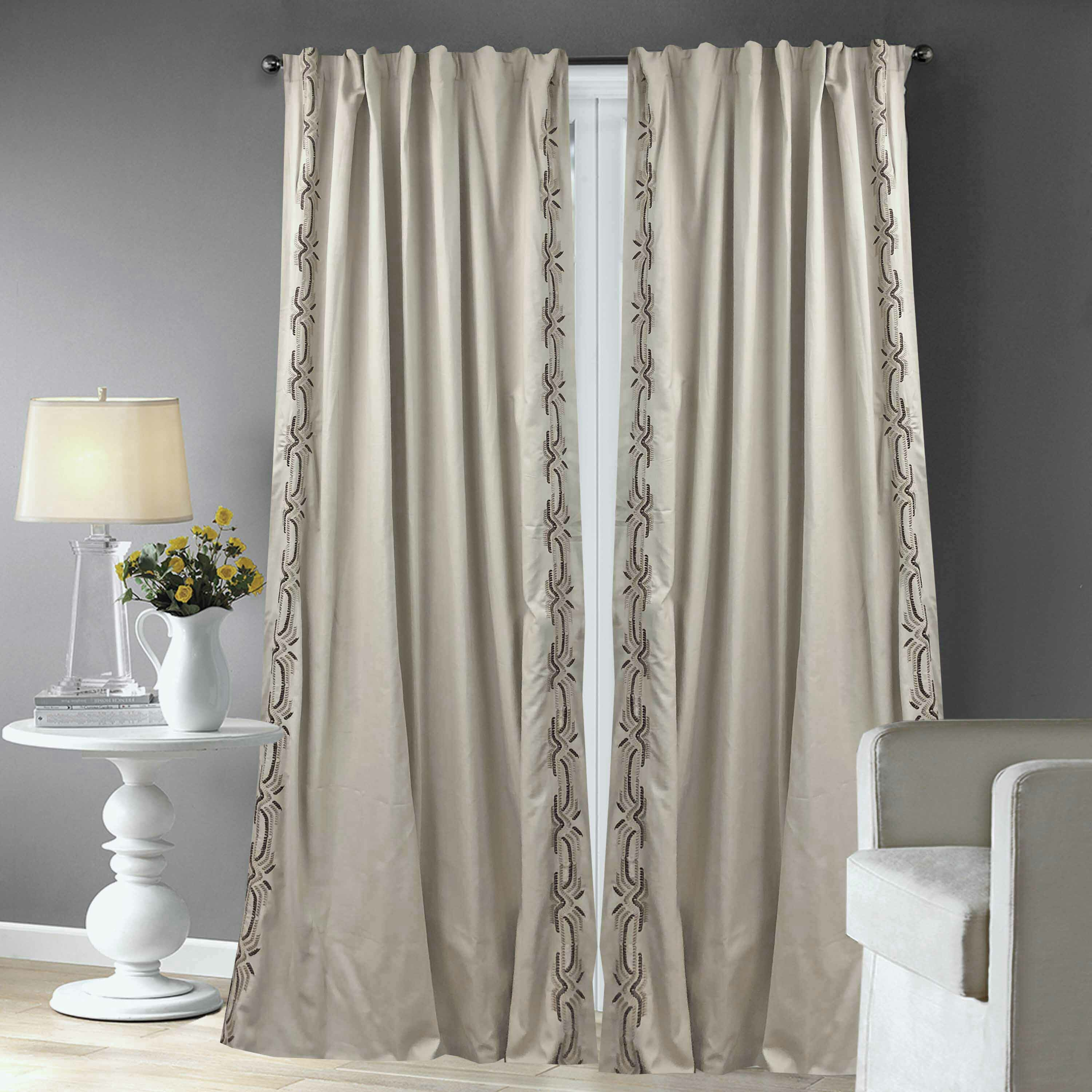 Alcott Hill Agostini Cotton Semi Sheer Rod Pocket Single Throughout Luxury Collection Faux Leather Blackout Single Curtain Panels (View 10 of 20)