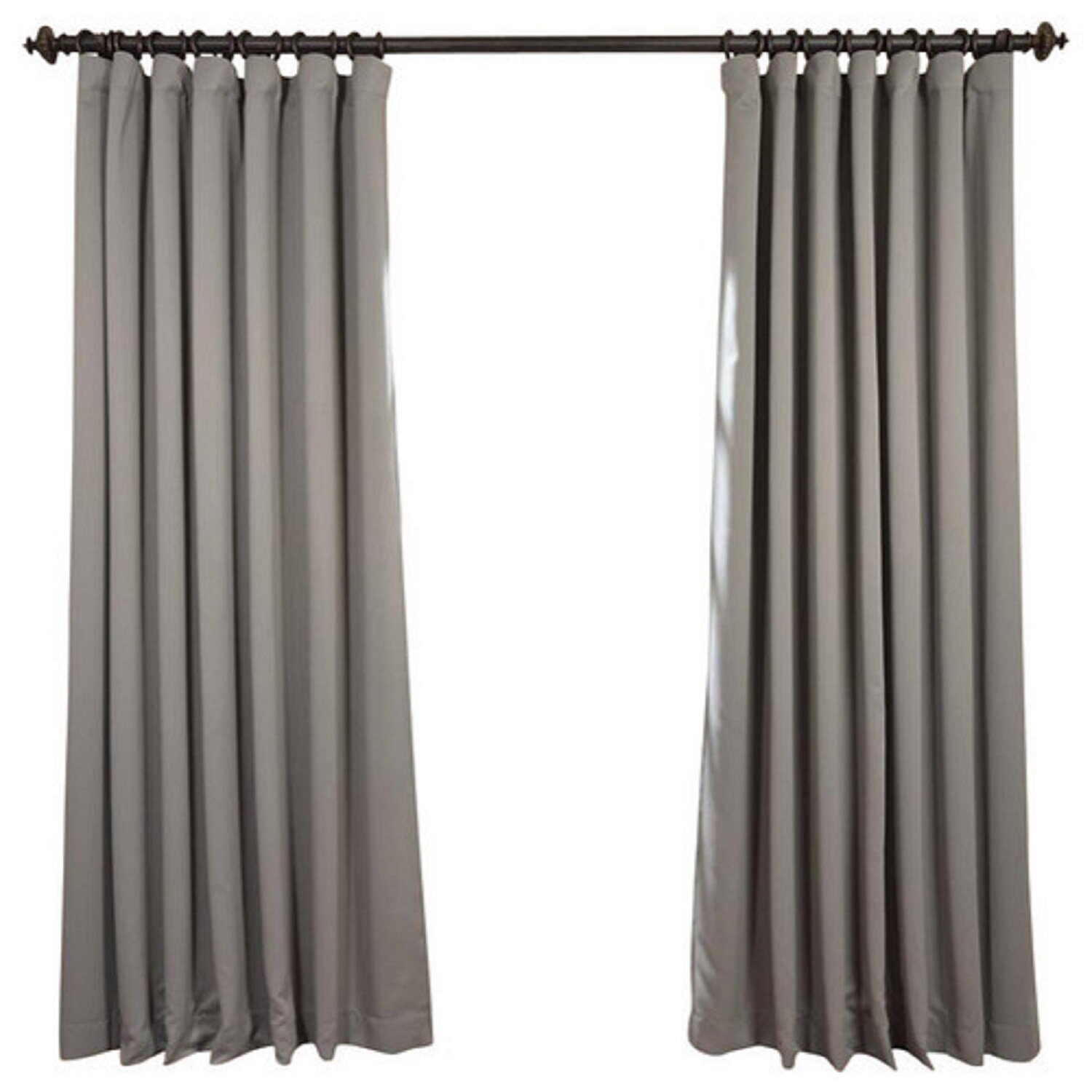 Aldreda Extra Wide Solid Blackout Thermal Rod Pocket Single Curtain Panel In Faux Silk Extra Wide Blackout Single Curtain Panels (View 20 of 20)