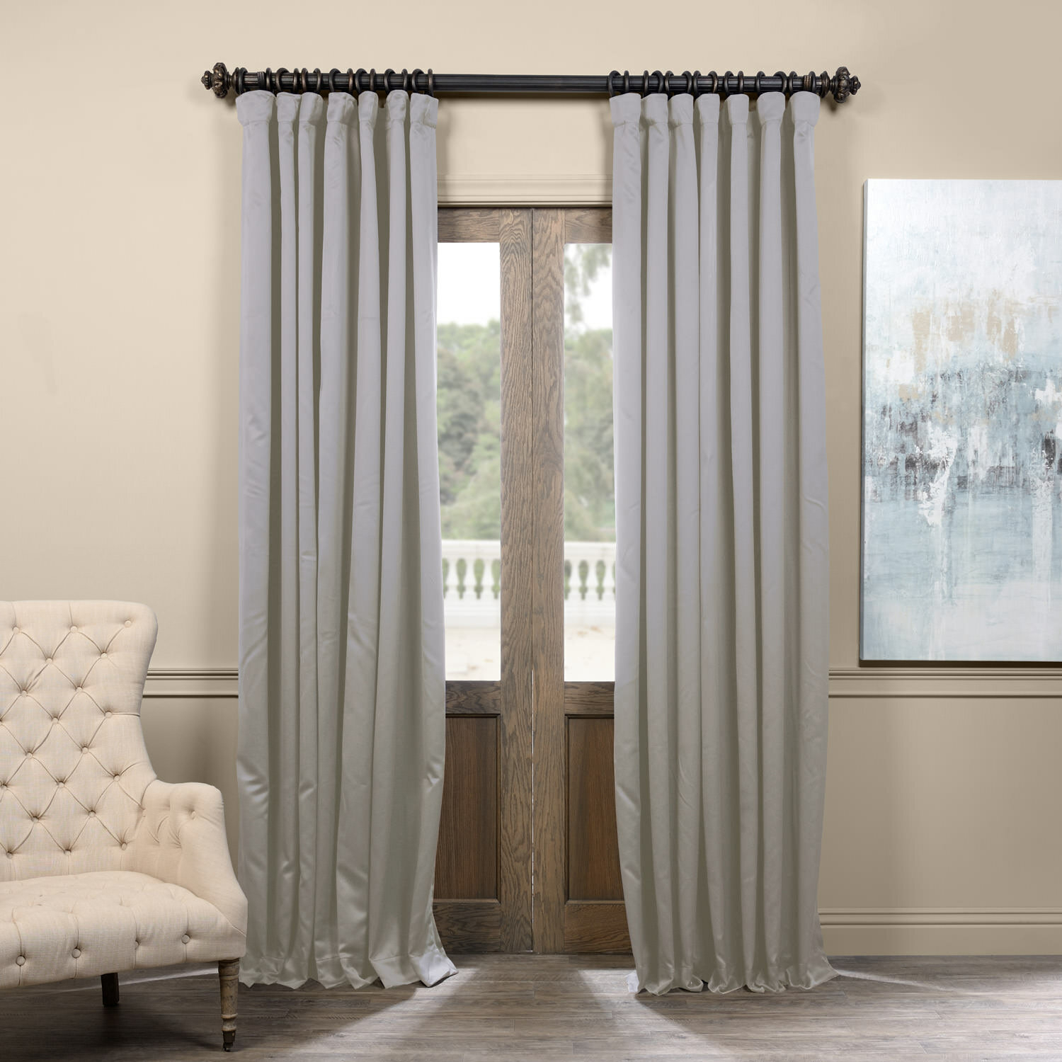 Aldreda Extra Wide Solid Blackout Thermal Rod Pocket Single Curtain Panel Within Faux Silk Extra Wide Blackout Single Curtain Panels (View 15 of 20)