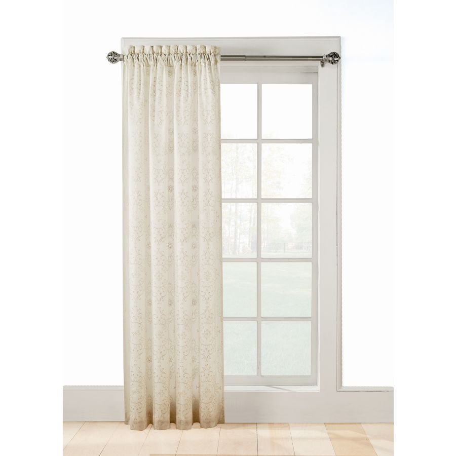 Allen + Roth Jana 95 In Ivory Polyester Rod Pocket Sheer Within Light Filtering Sheer Single Curtain Panels (View 19 of 20)
