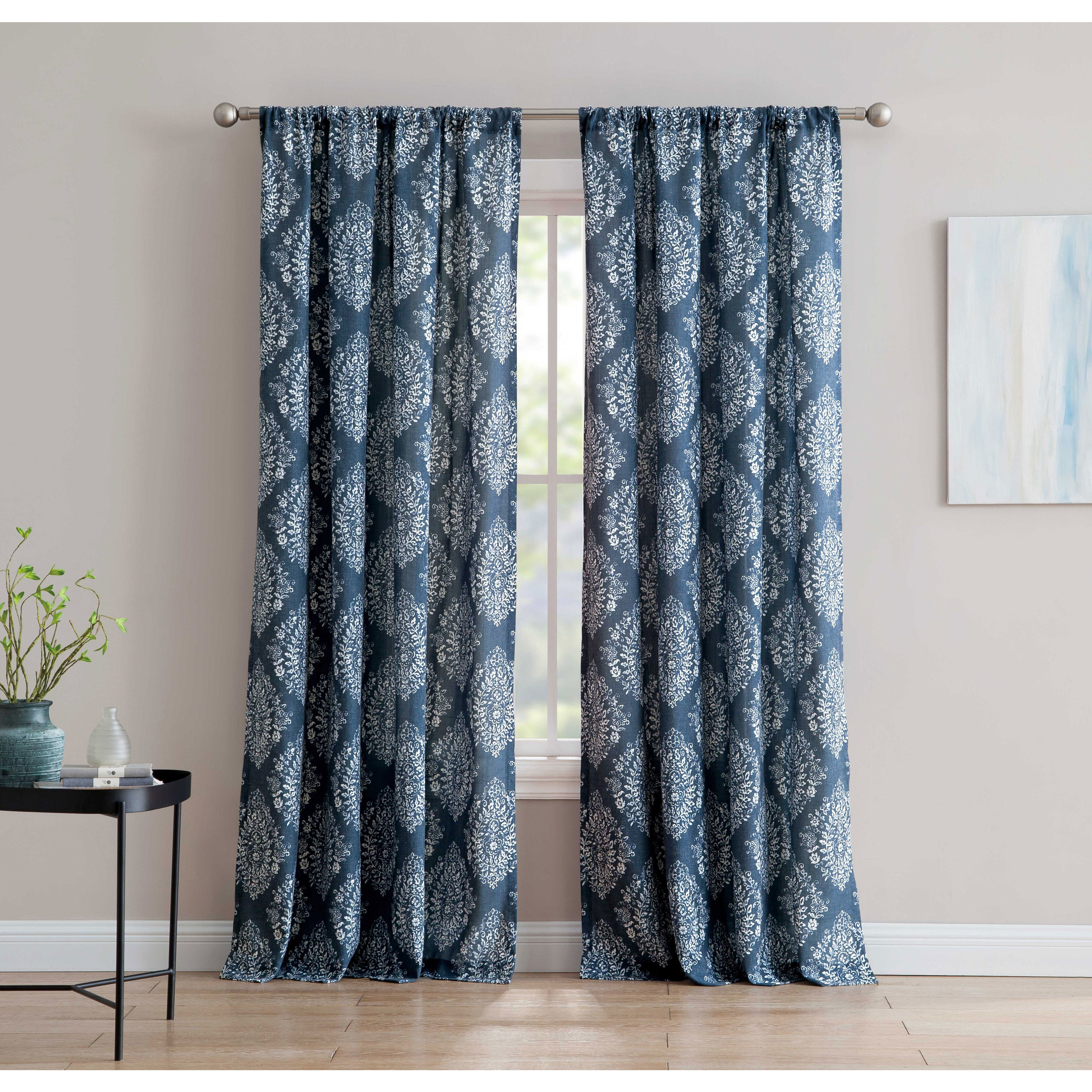 Alma 84 Inch Window Curtain With Rod Pocket Single Panel, Inspired Surroundings1888 Mills For Willow Rod Pocket Window Curtain Panels (View 11 of 30)