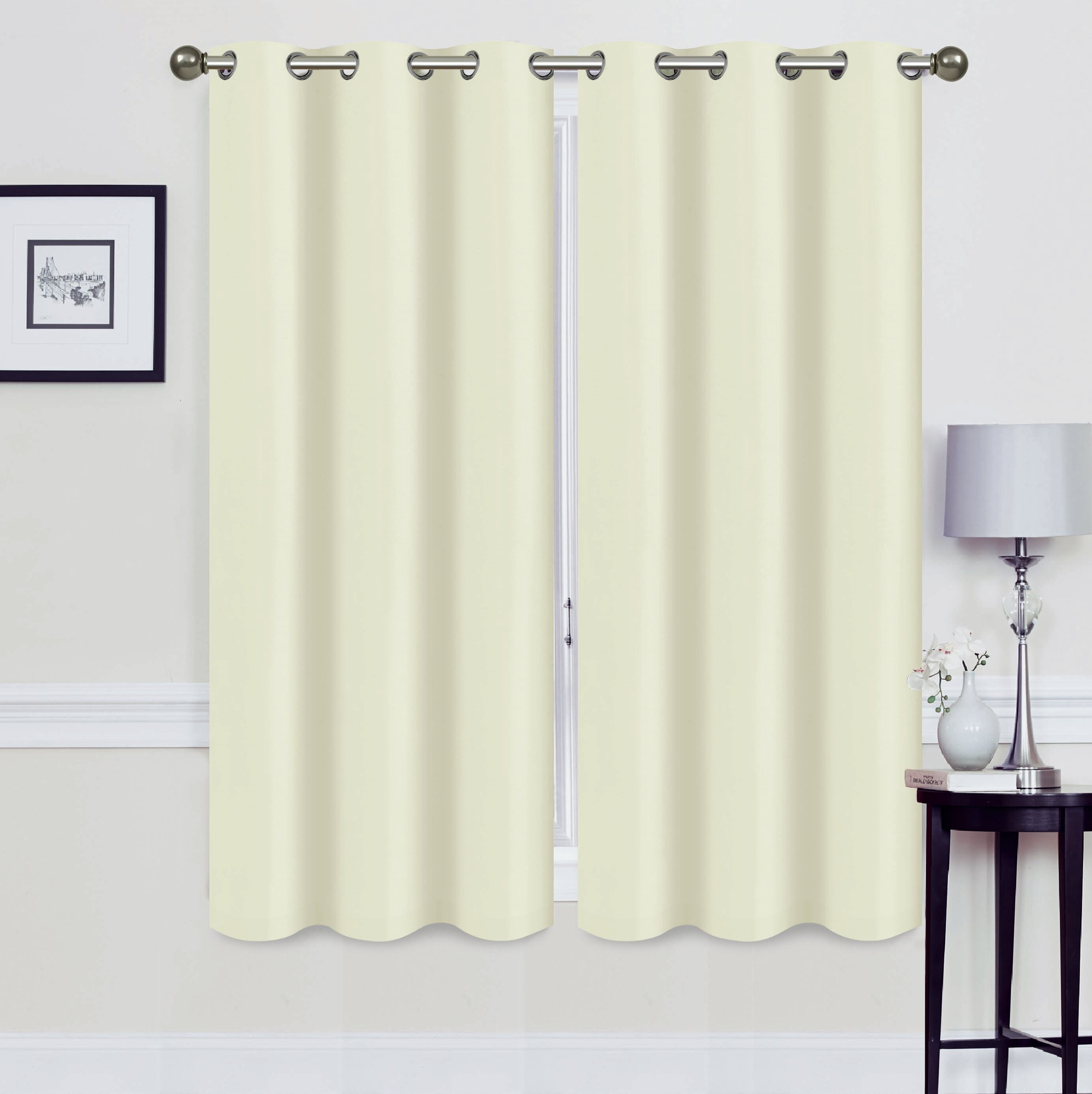 Alvina Solid Blackout Thermal Grommet Curtain Panels Pertaining To Raw Silk Thermal Insulated Grommet Top Curtain Panel Pairs (View 19 of 20)