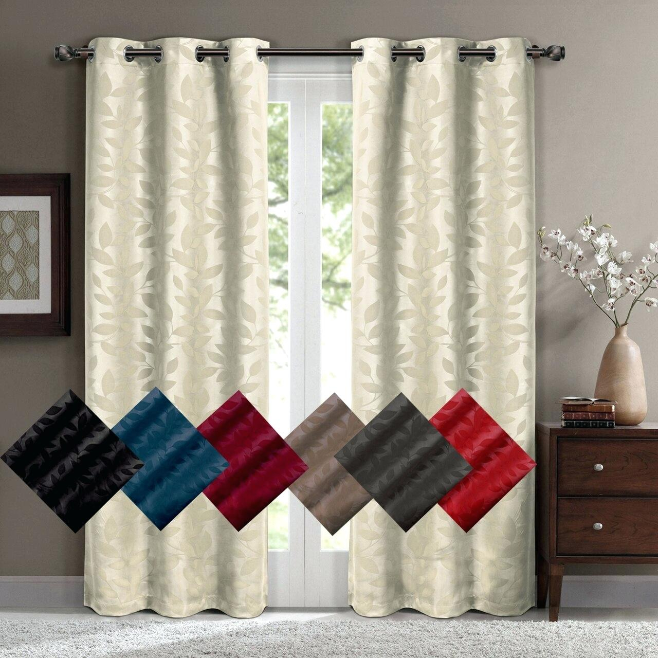 Amazing Grommet Drapery Panels Curtain On Sale Bed Bath With Regard To Geometric Print Textured Thermal Insulated Grommet Curtain Panels (View 17 of 20)