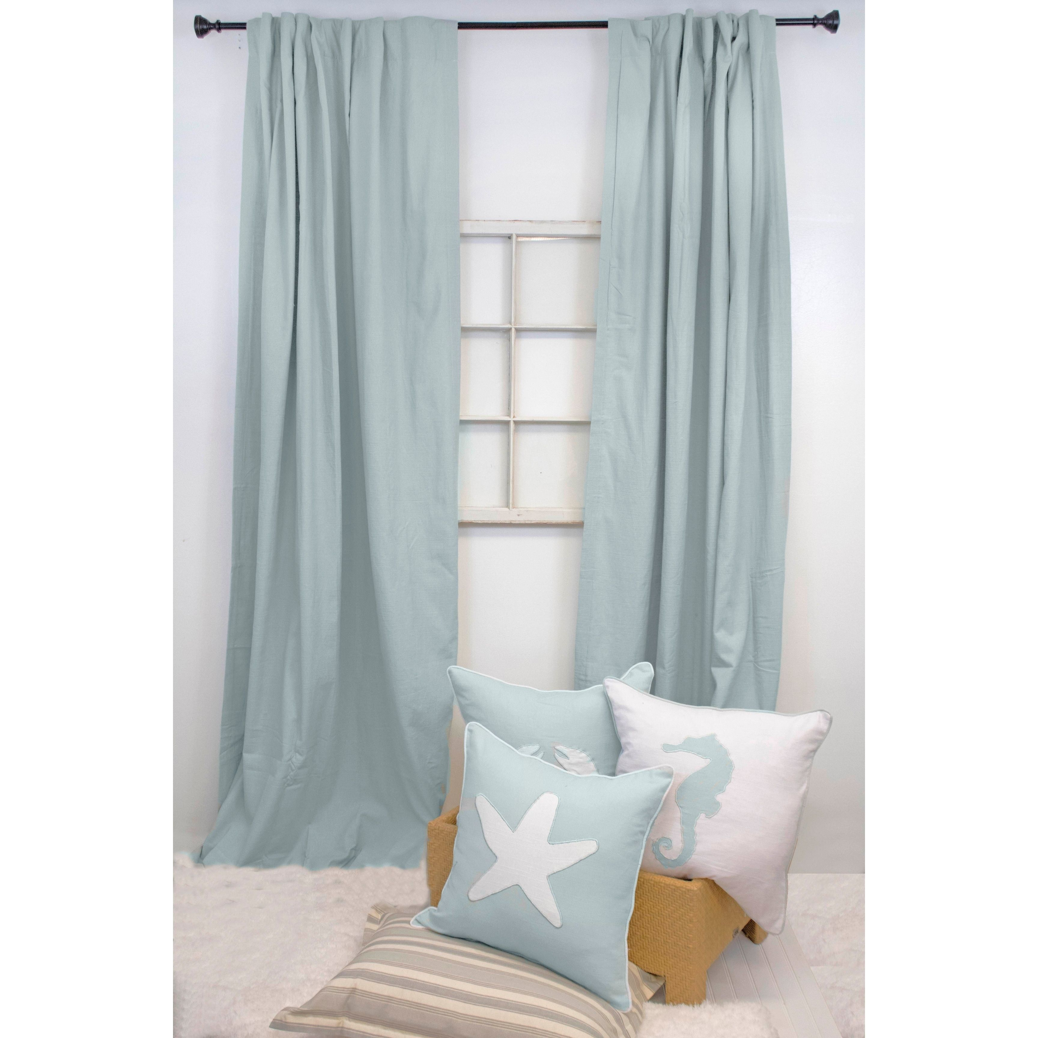 American Colors Brand Heritage Curtain Panels Spa | Products Pertaining To Solid Cotton Curtain Panels (View 5 of 30)