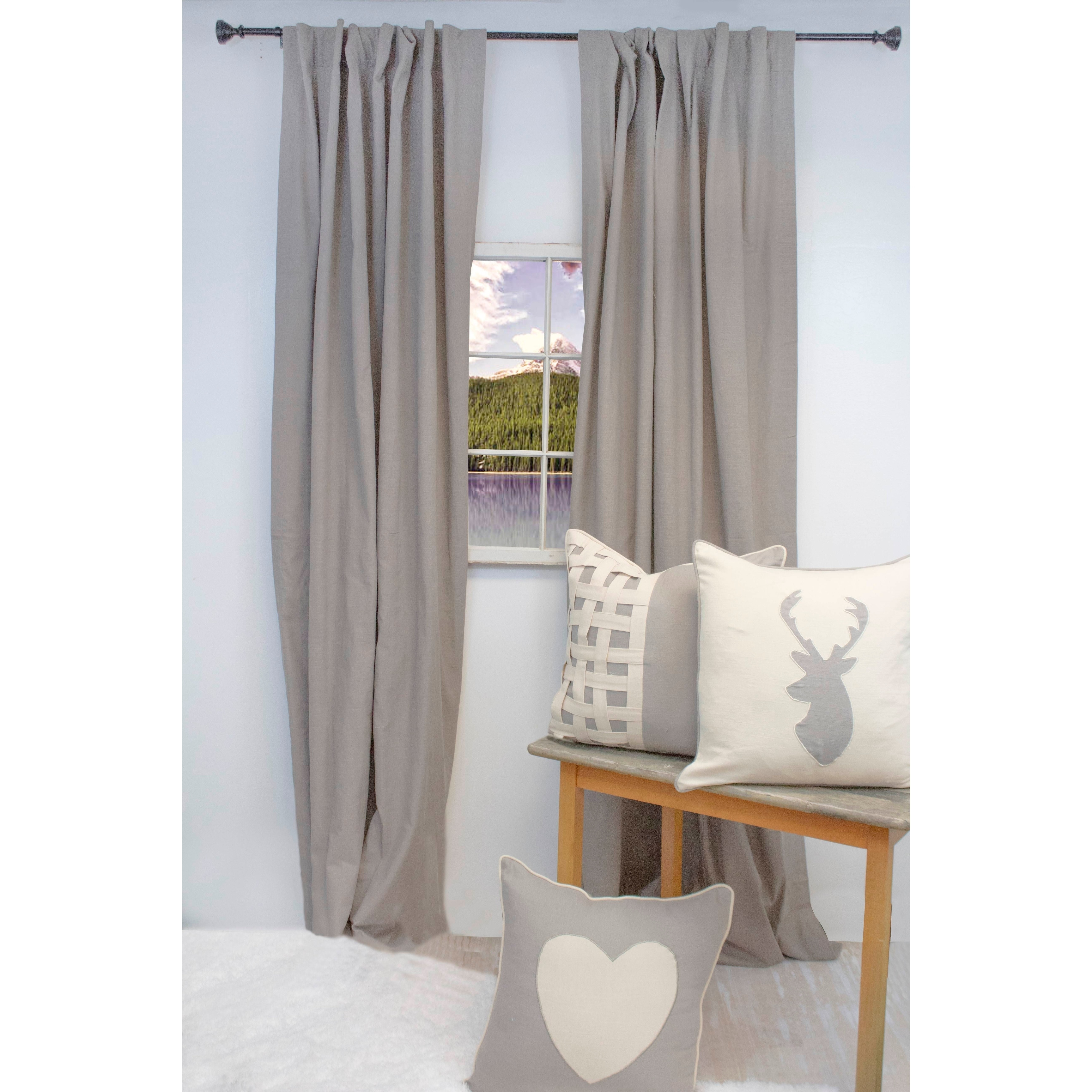 American Colors Brand Heritage Natural Cotton Solid Curtain Panel Pair With Regard To Solid Cotton Curtain Panels (View 6 of 30)