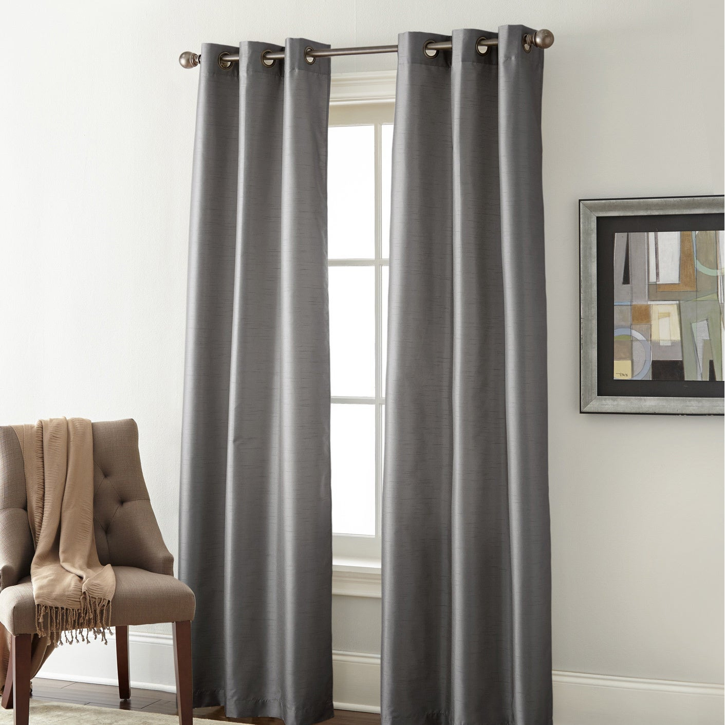 Amrapur Overseas Faux Silk Blackout Curtain Panel Pair In Overseas Faux Silk Blackout Curtain Panel Pairs (View 2 of 20)