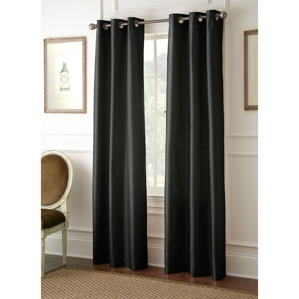 Amrapur Overseas Inc Faux Silk 84 Inch Blackout Curtain With Regard To Overseas Faux Silk Blackout Curtain Panel Pairs (View 4 of 20)