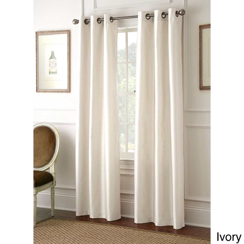 Amrapur Overseas Inc Faux Silk 84 Inch Blackout Curtain Within Overseas Faux Silk Blackout Curtain Panel Pairs (View 7 of 20)
