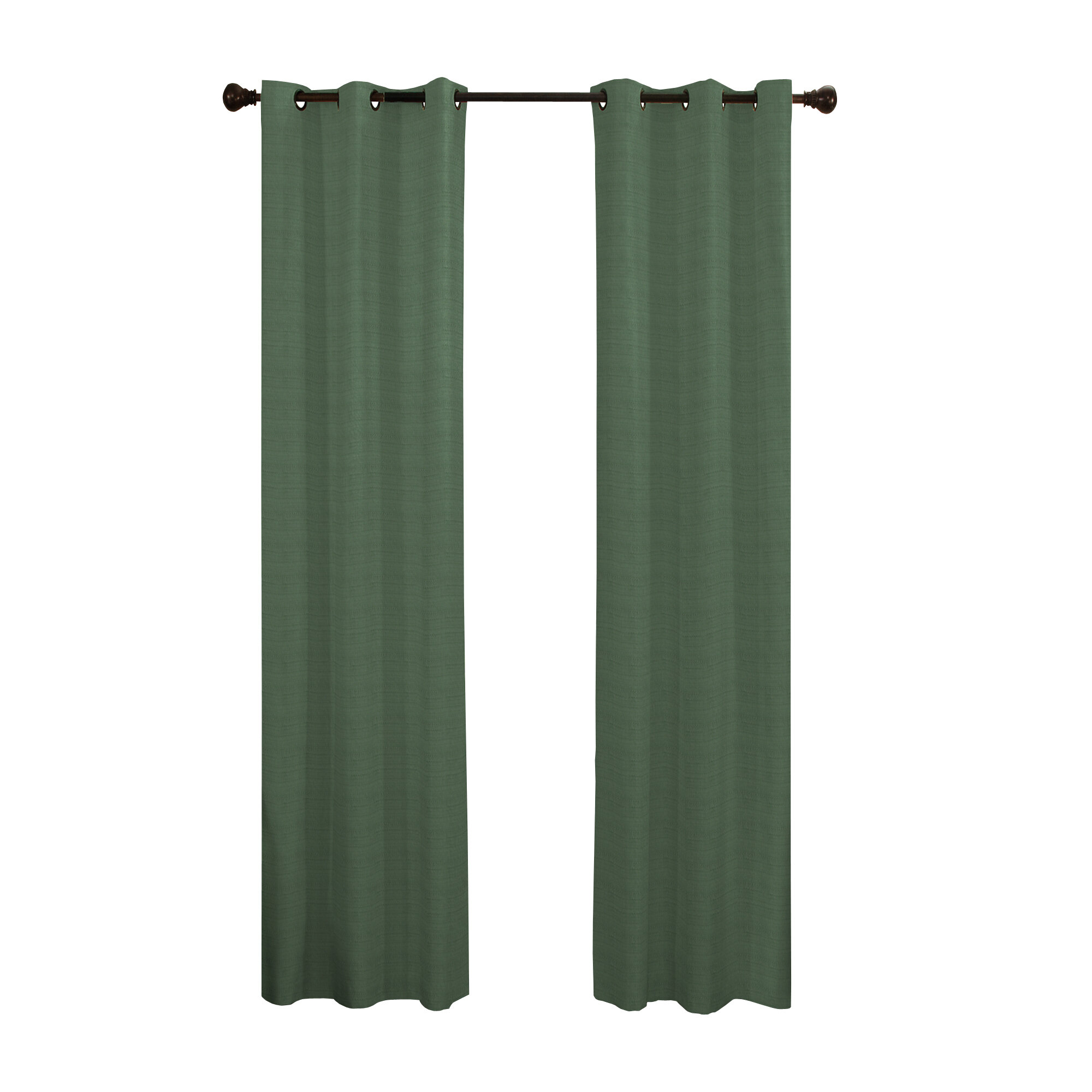 Andover Solid Blackout Thermal Grommet Single Curtain Panel Pertaining To Solid Cotton True Blackout Curtain Panels (View 15 of 30)