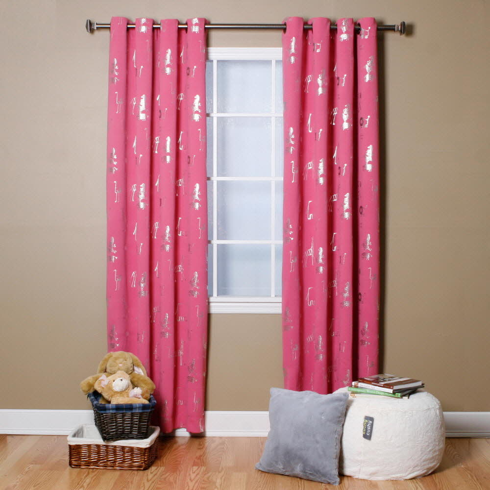 Animal Foil Printed Thermal Insulated Blackout Curtain Pair – Walmart Intended For Thermal Insulated Blackout Curtain Pairs (View 11 of 30)