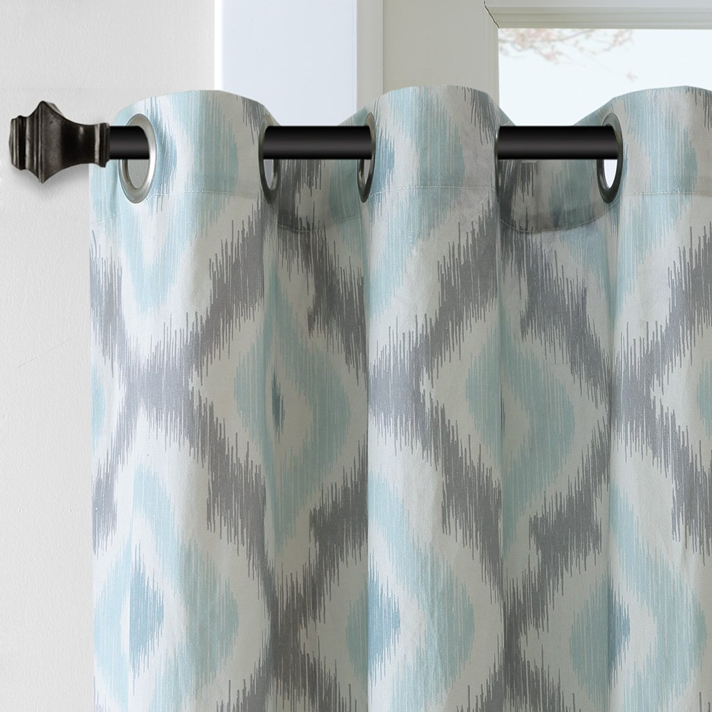 "Ankara Window Curtain Aqua 84"" Panel, The Ink+Ivy Ankara Cotton Printed Panel Can Update Your Windows With A Refreshing Touch Of Color And Pattern (View 2 of 20)"