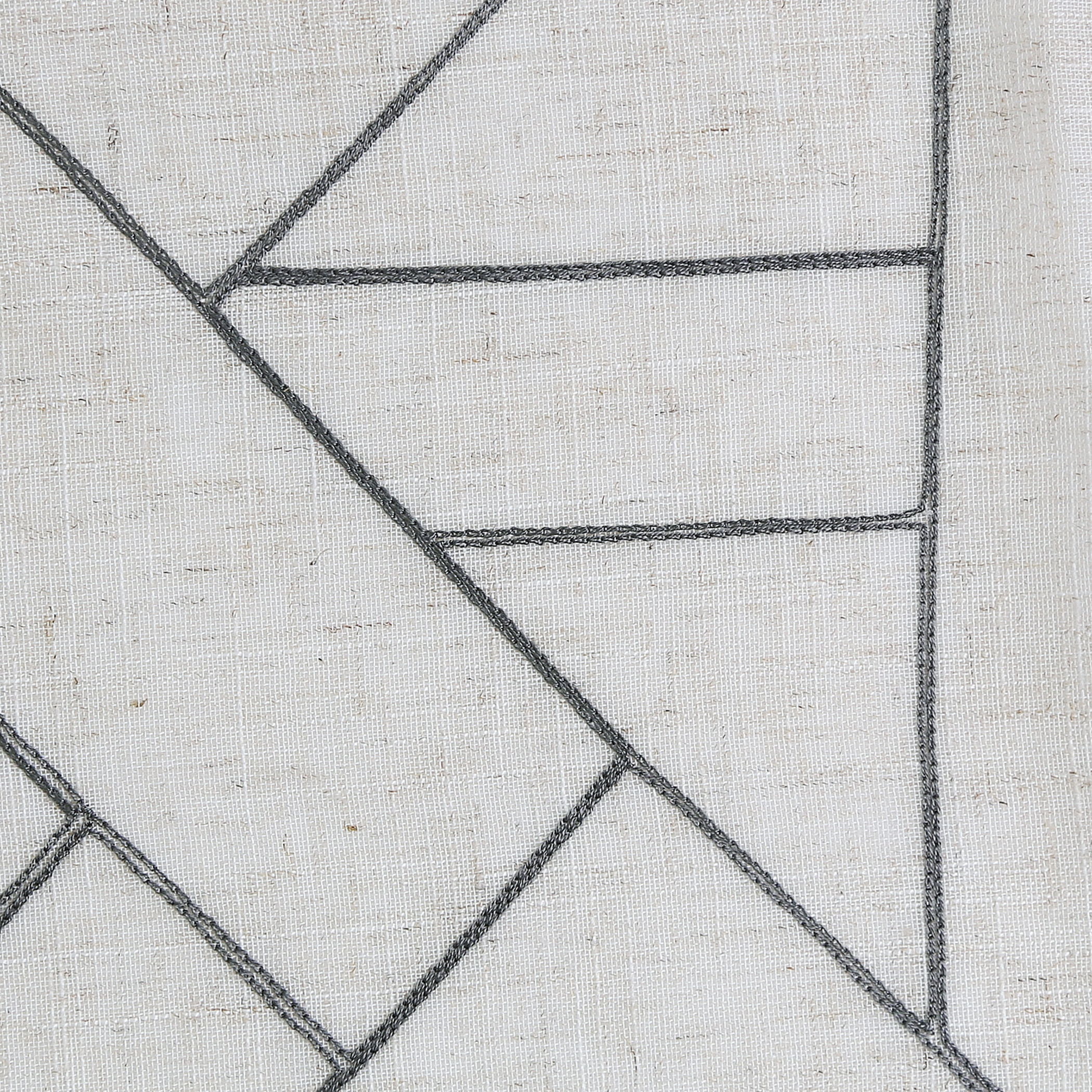 Archaeo Jigsaw Embroidery Linen Blend Curtain – Walmart In Archaeo Jigsaw Embroidery Linen Blend Curtain Panels (View 5 of 20)