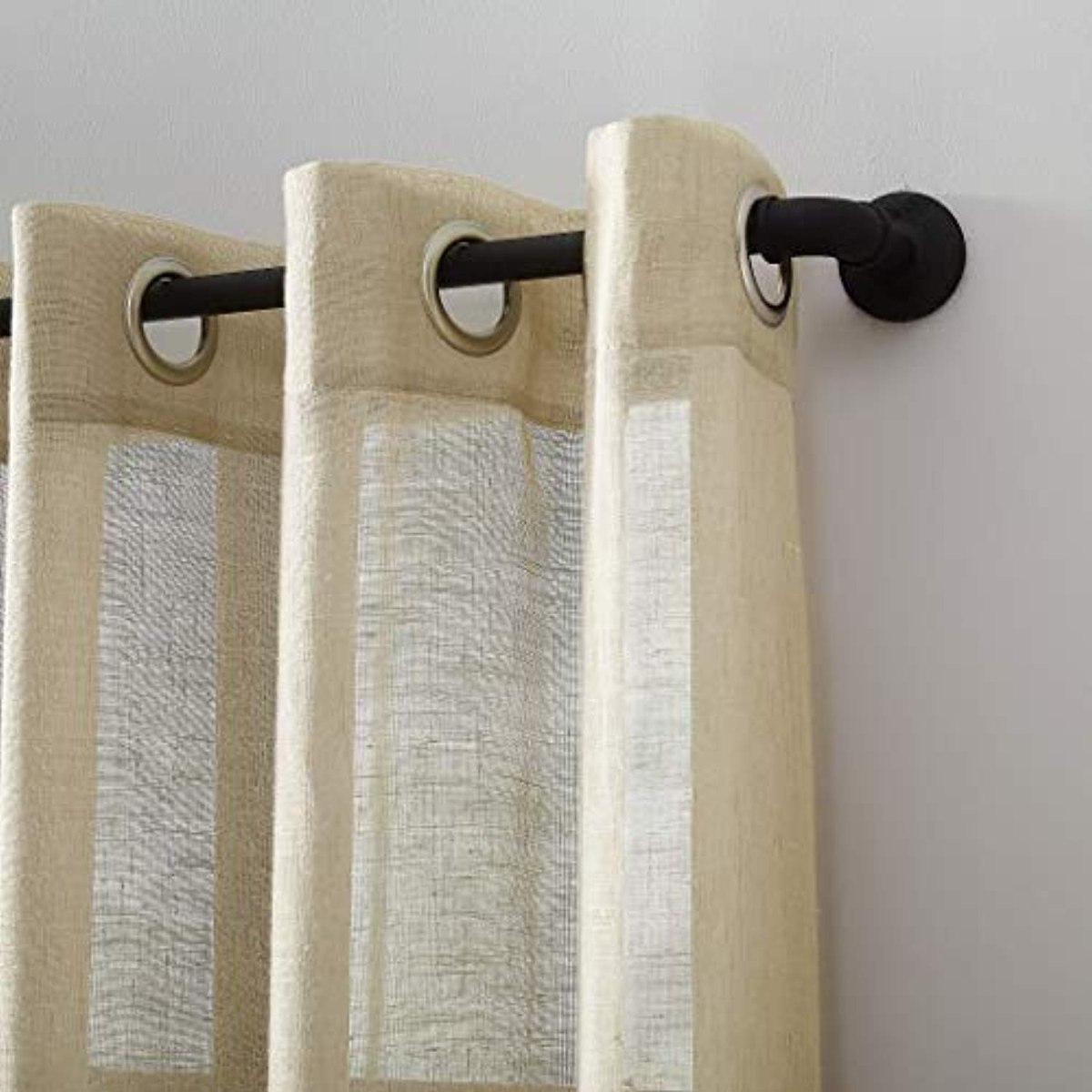 Archaeo Slub Textured Linen Blend Grommet For Archaeo Slub Textured Linen Blend Grommet Top Curtains (View 10 of 20)