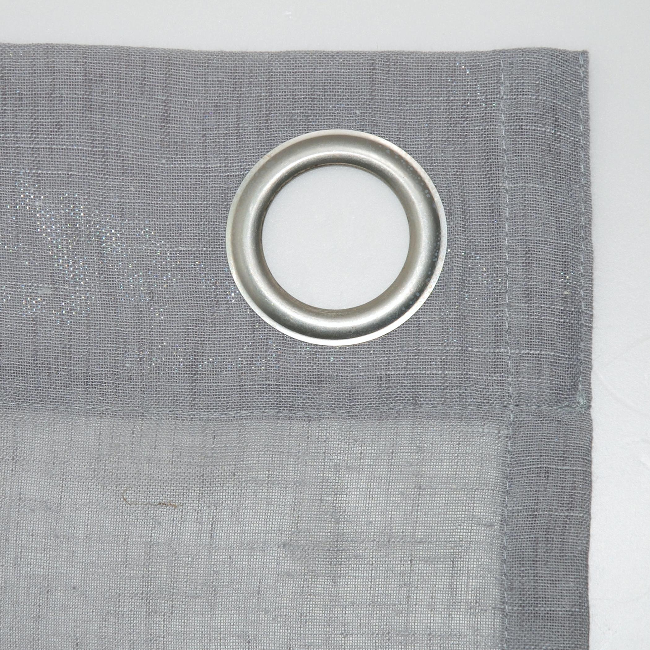 Archaeo Slub Textured Linen Blend Grommet Top Curtain Pertaining To Archaeo Slub Textured Linen Blend Grommet Top Curtains (View 4 of 20)