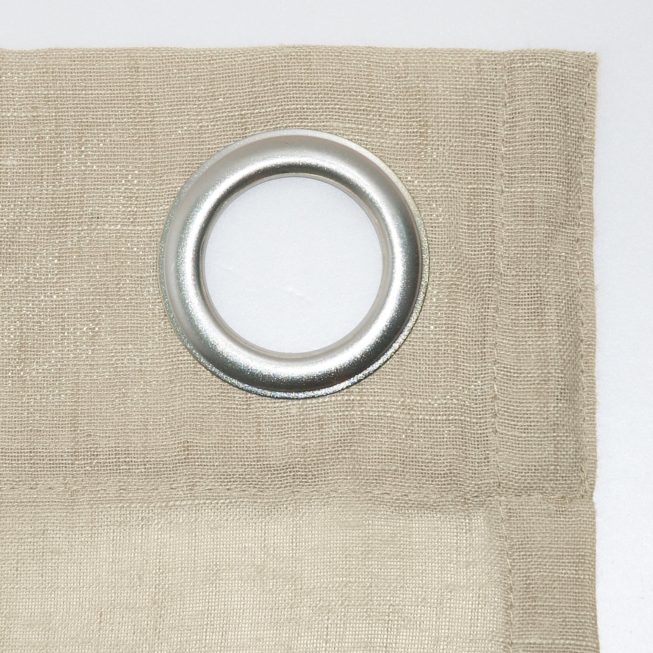 Archaeo Slub Textured Linen Blend Grommet Top Curtain Regarding Archaeo Slub Textured Linen Blend Grommet Top Curtains (View 12 of 20)
