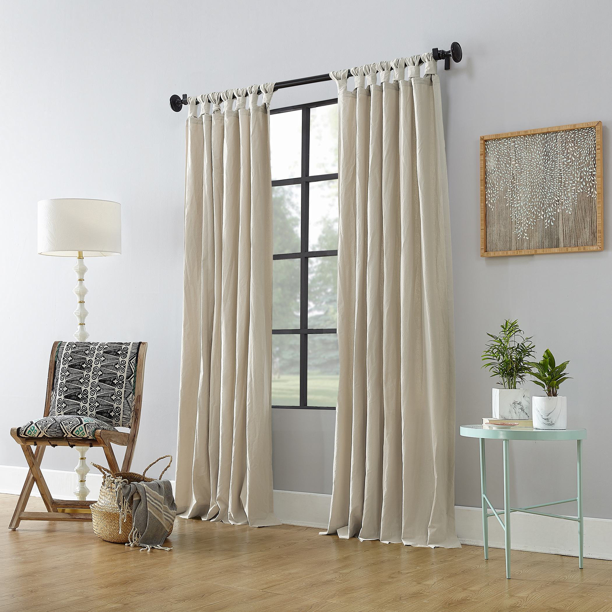 Archaeo Washed Cotton Twist Tab Curtain – Walmart Inside Archaeo Washed Cotton Twist Tab Single Curtain Panels (View 3 of 20)