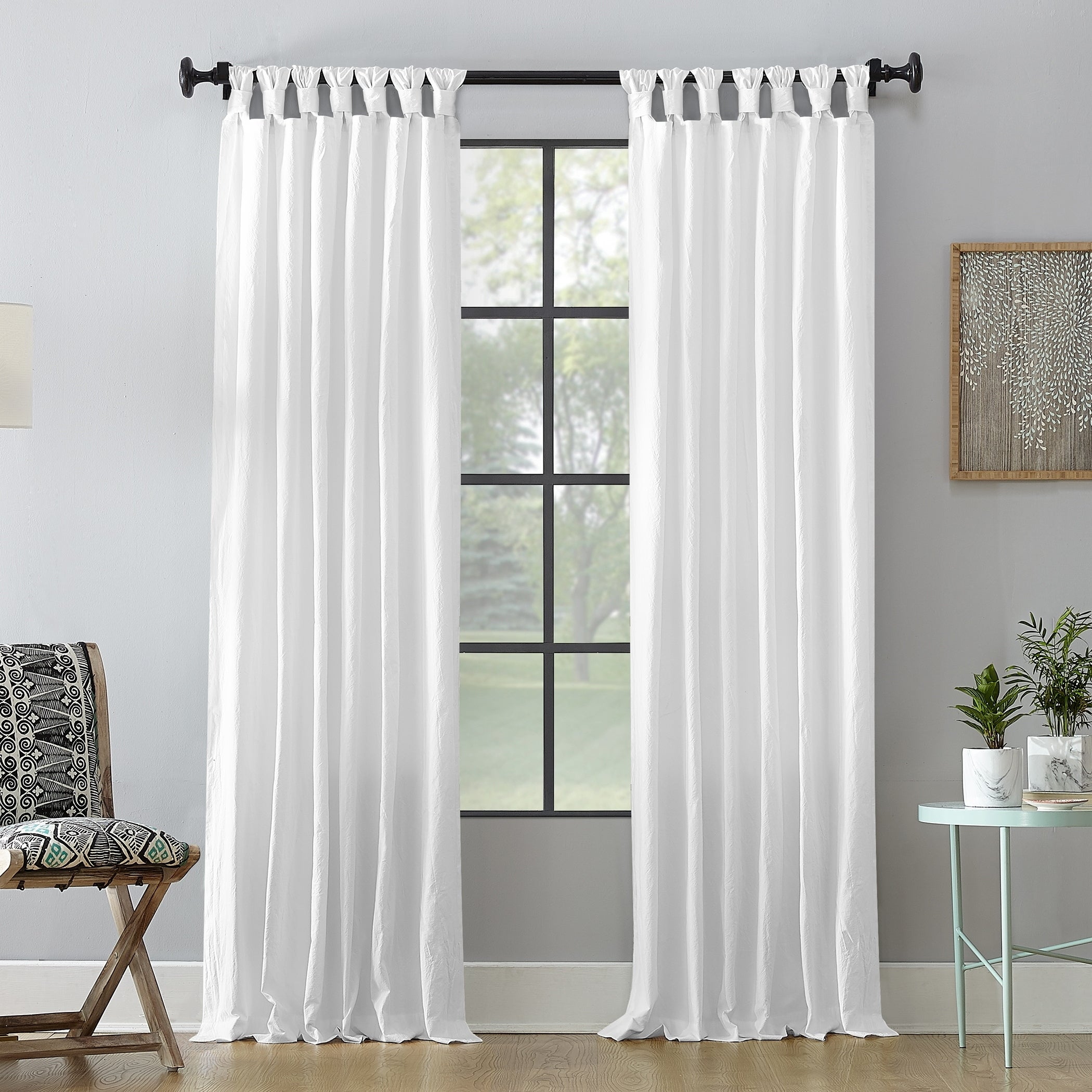 Featured Photo of Archaeo Washed Cotton Twist Tab Single Curtain Panels