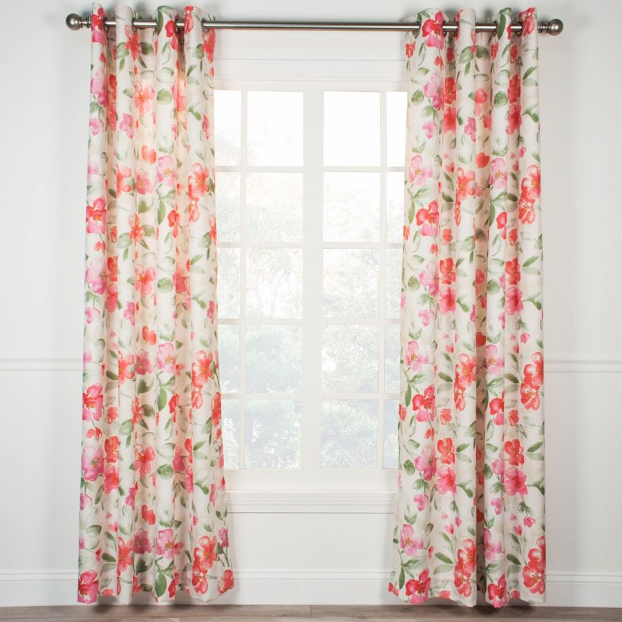 Arden Lined Grommet Top Curtain Panel – Pink In Lined Grommet Curtain Panels (View 10 of 20)