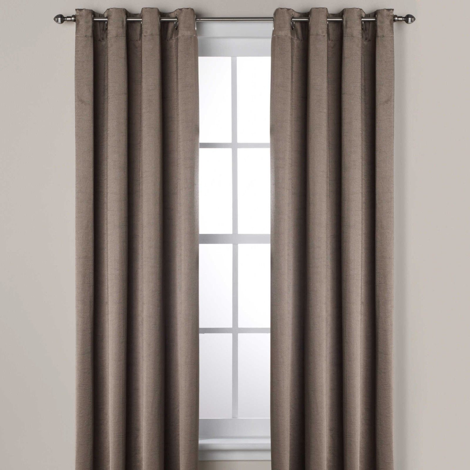 """Ashton 95"""" Lined Grommet Top Room Darkening Window Curtain Panel In Smoke Intended For Lined Grommet Curtain Panels (View 15 of 20)"""