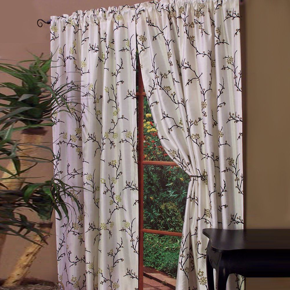 Asian Willow Rod Pocket Panel | Redesign Your Home With Inside Willow Rod Pocket Window Curtain Panels (View 23 of 30)